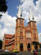 Asisbiz Vietnam Ho Chi Minh City Saigon Notre Dame Cathedral architecture Nov 2009 01