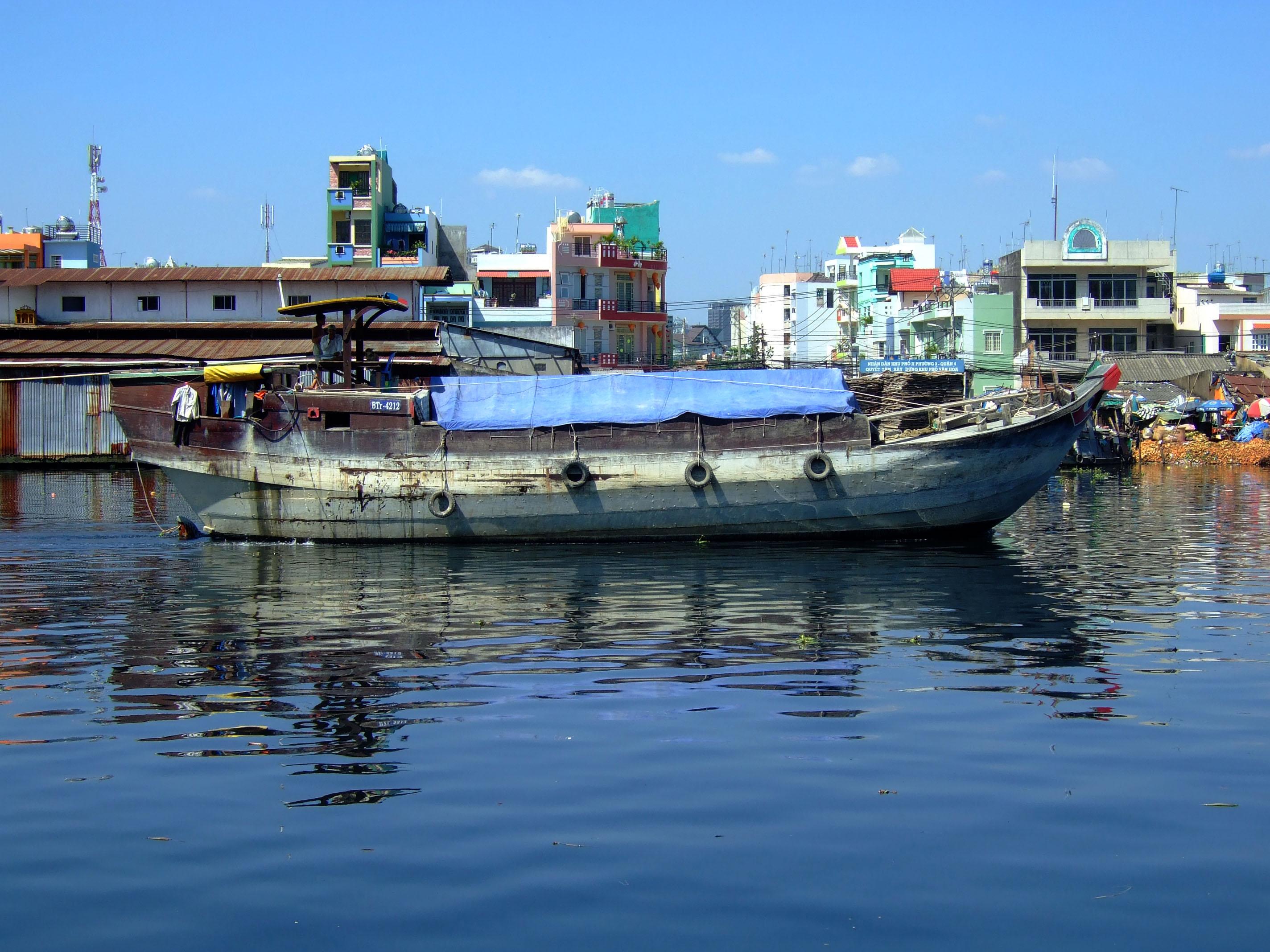 Vietnam Ho Chi Minh City Saigon harbor Ferries boats Feb 2009 05