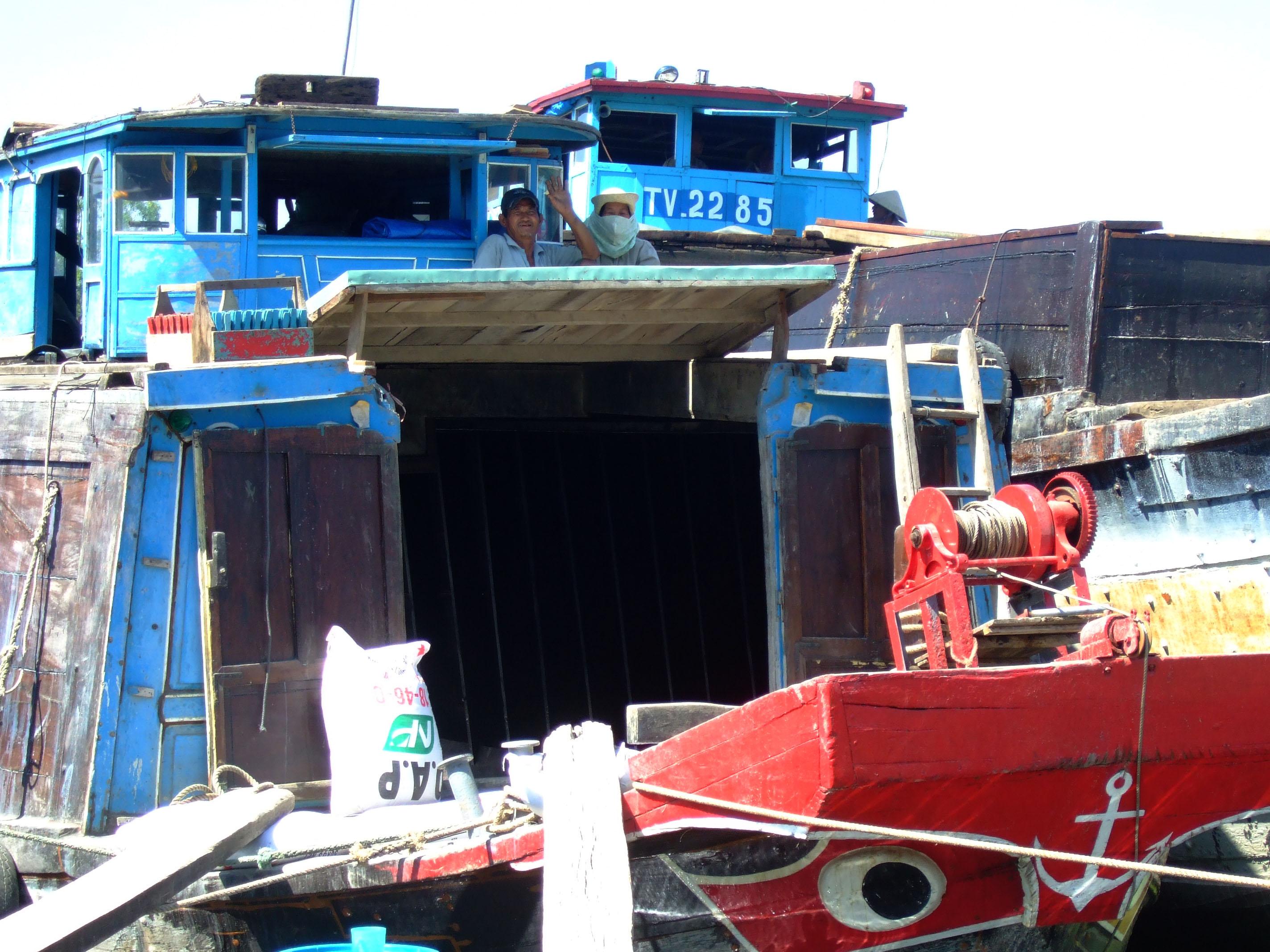 Vietnam Ho Chi Minh City Saigon harbor Ferries boats Feb 2009 21