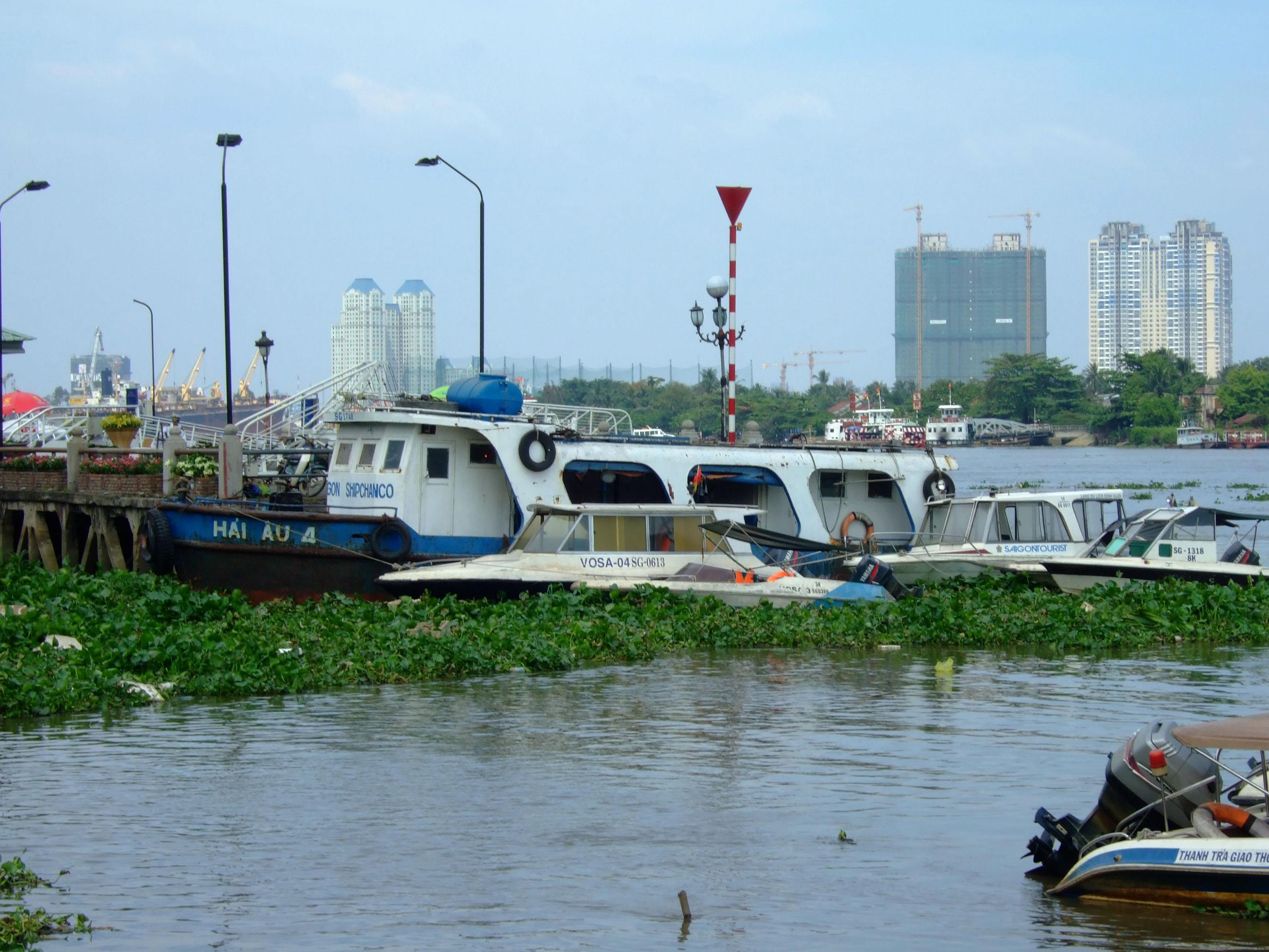 Vietnam Ho Chi Minh City Saigon harbor Ferries boats Feb 2009 27