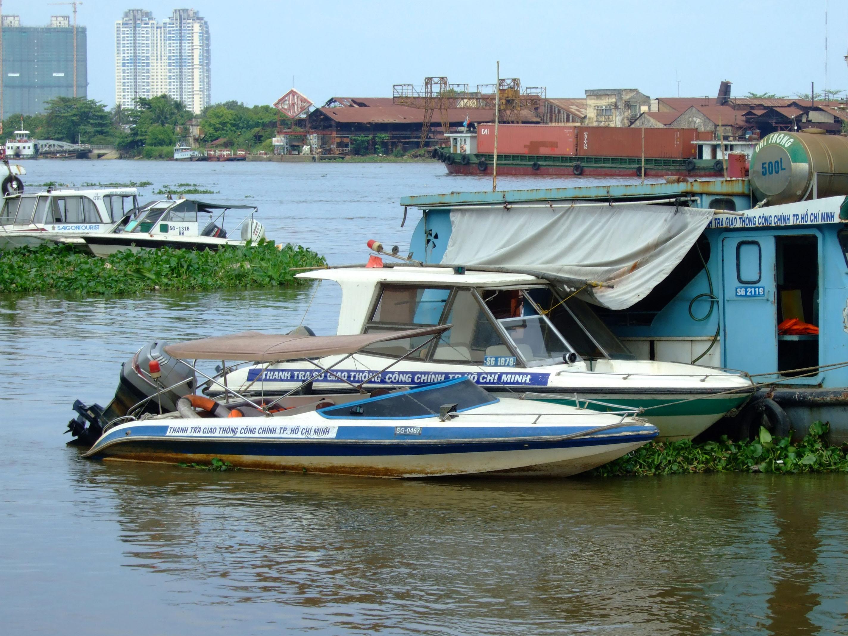 Vietnam Ho Chi Minh City Saigon harbor Ferries boats Feb 2009 28