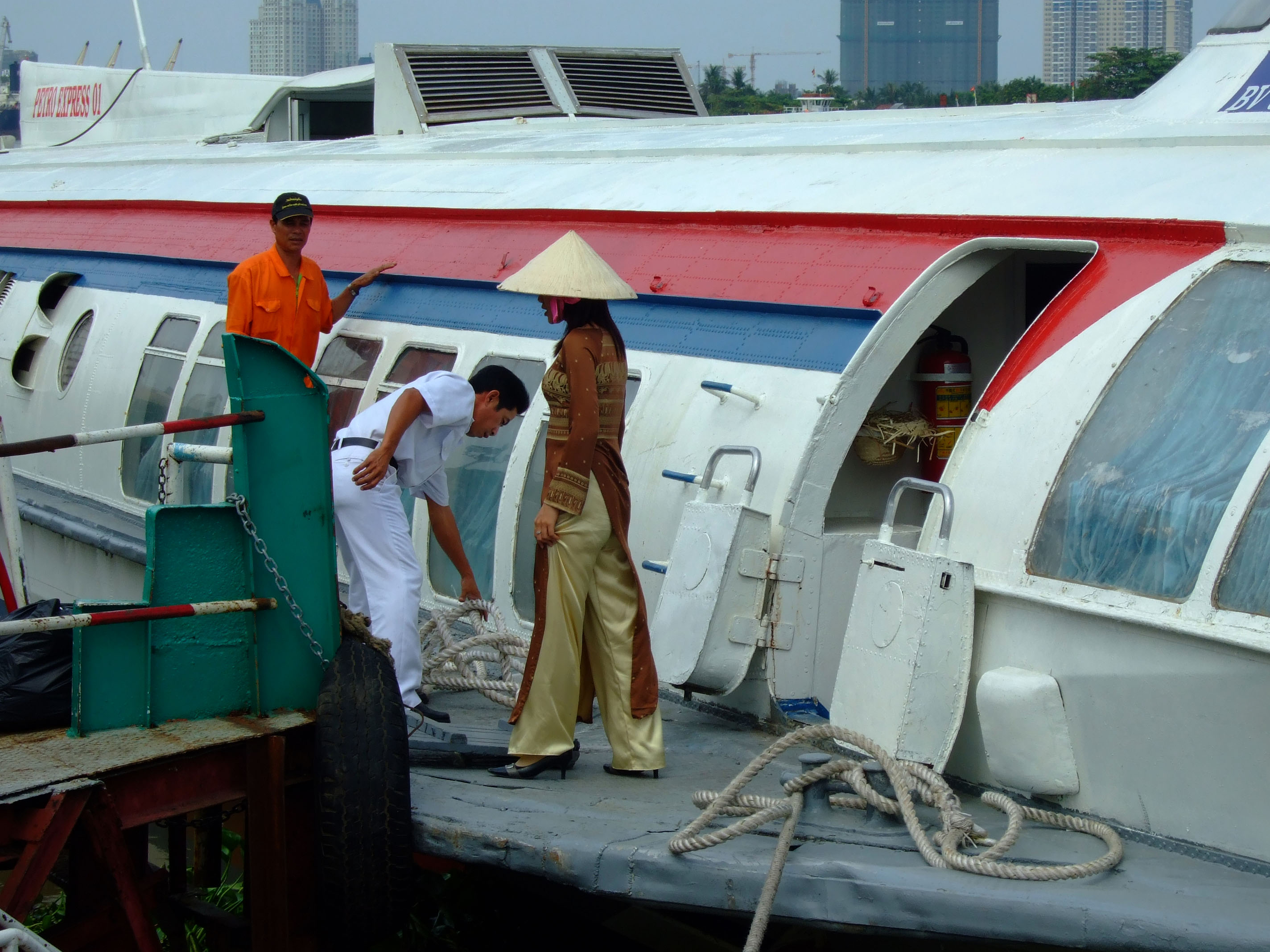 Vietnam Ho Chi Minh City Saigon harbor Ferries boats Feb 2009 36