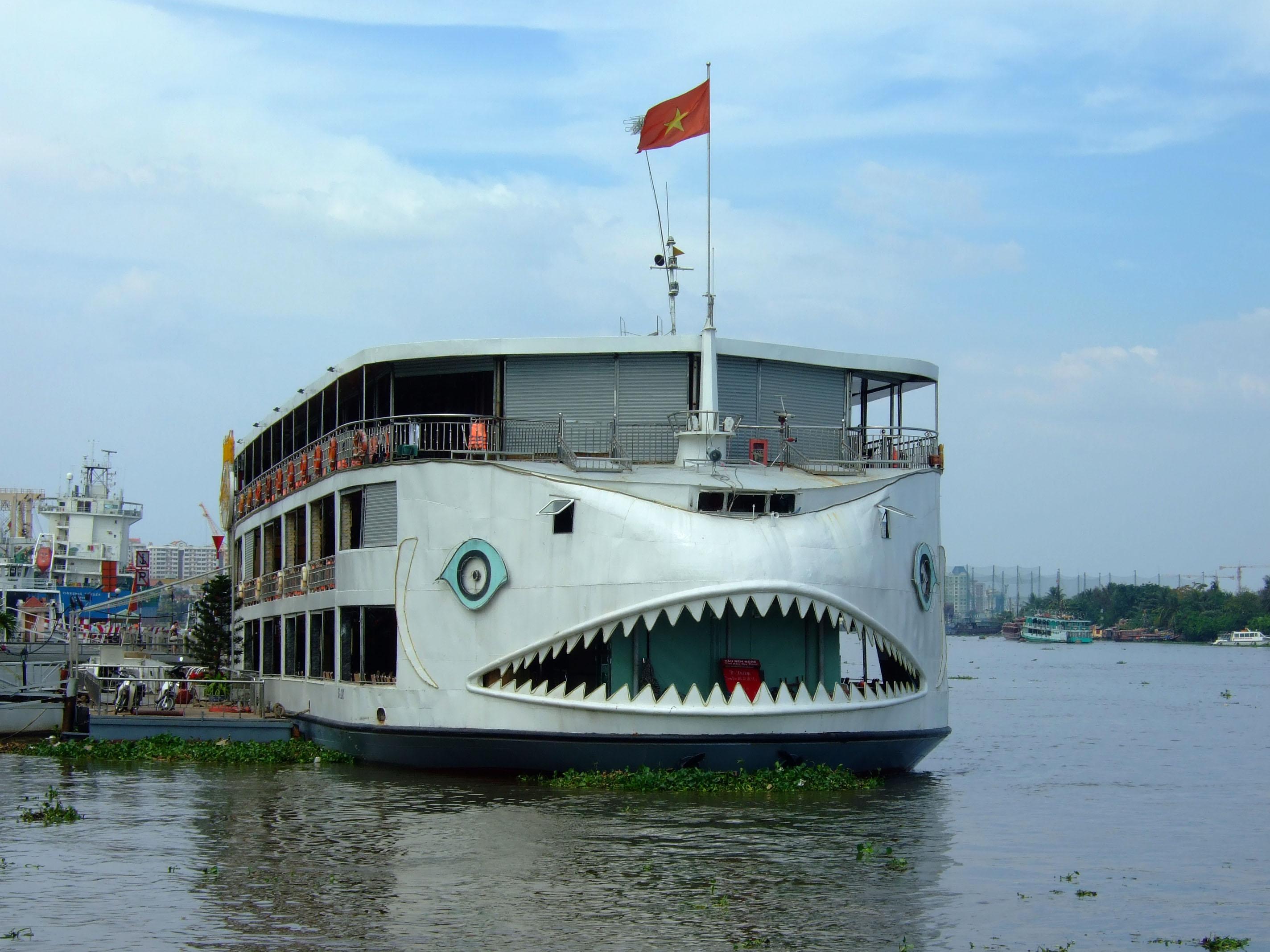 Vietnam Ho Chi Minh City Saigon harbor Ferries boats Feb 2009 38