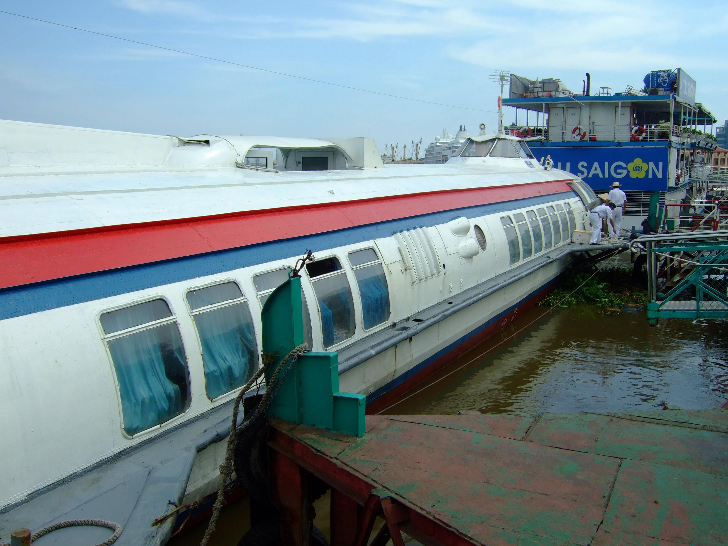 Vietnam Ho Chi Minh City Saigon harbor Ferries boats Feb 2009 41
