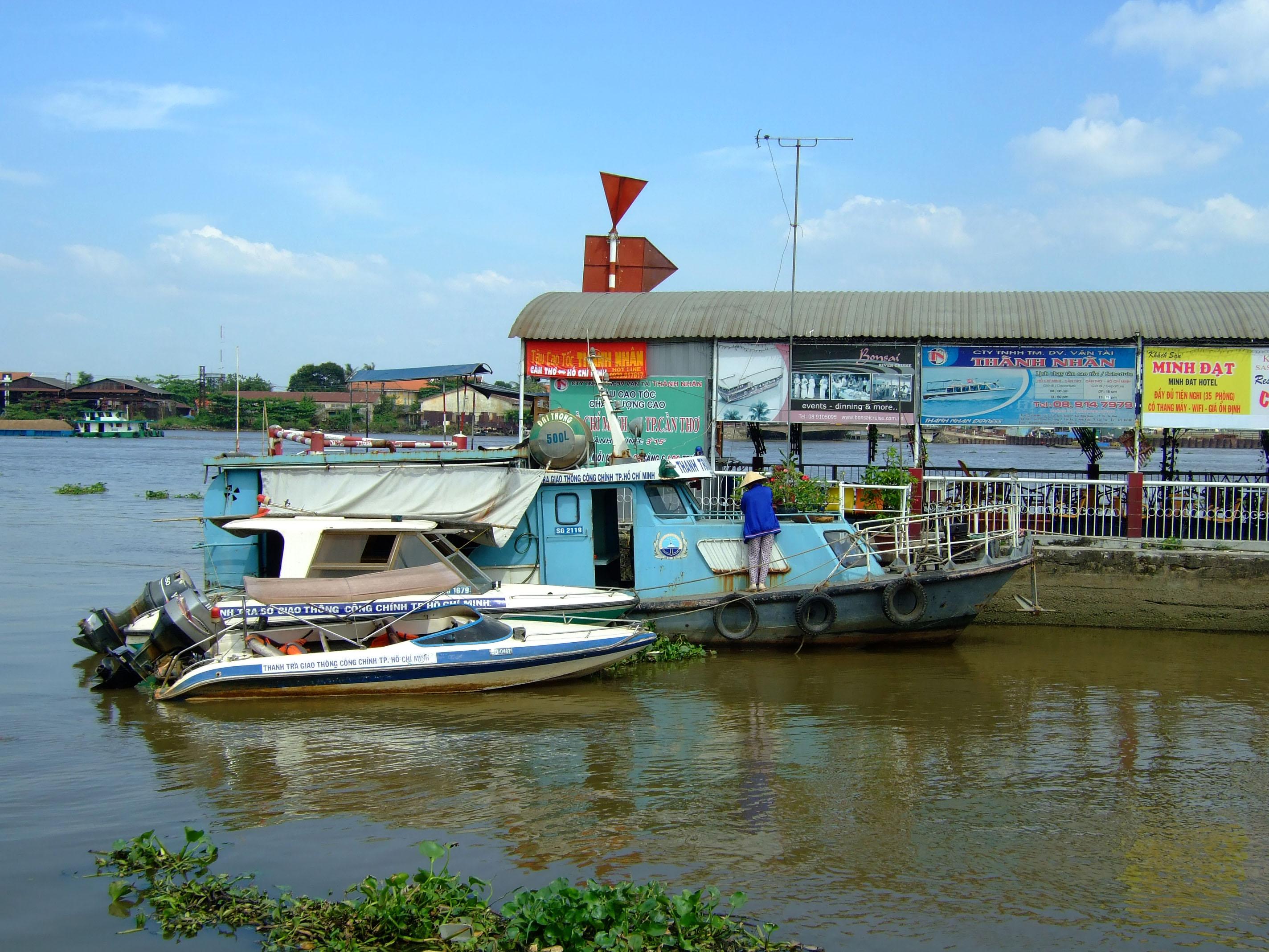 Vietnam Ho Chi Minh City Saigon harbor Ferries boats Feb 2009 44