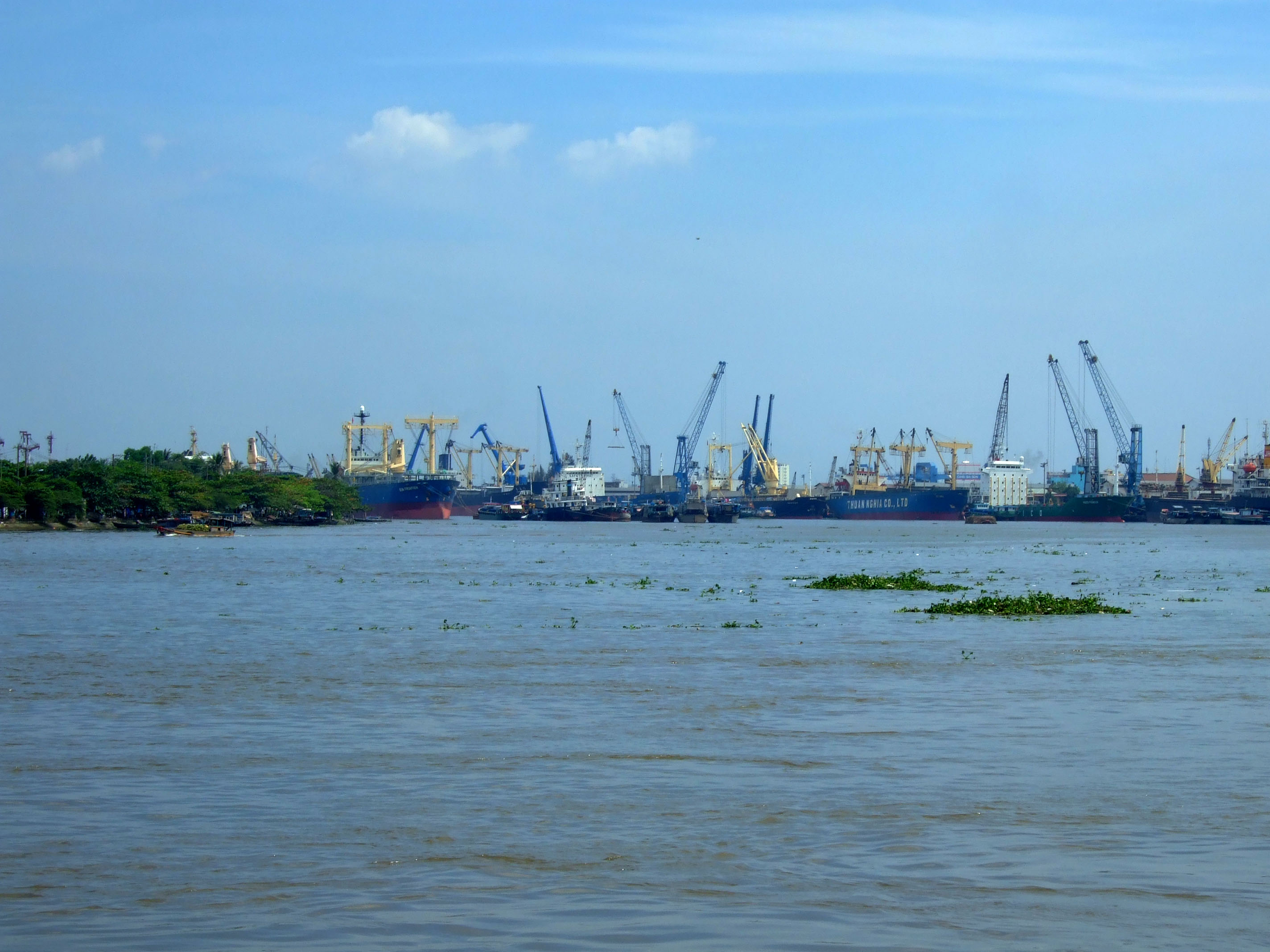 Vietnam Ho Chi Minh City Saigon harbor ships Feb 2009 05