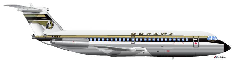 Mohawk Airlines BAC 1-11 N1122J 1972