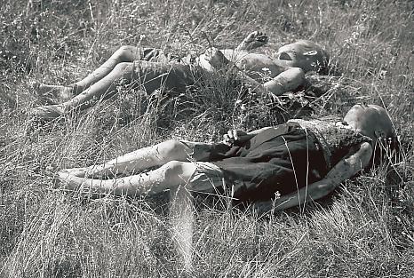 Finnish children killed by Soviet partisans at Seitajärvi in Finnish Lapland 1944.
