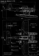 Asisbiz Aircraft blue print of Arado Ar 196A3 in 1.72 scale by Michal Bradac 0B