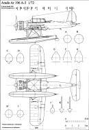 Asisbiz Aircraft technical drawing of Arado Ar 196A3 in 1.72 scale by Michal Bradac 0A