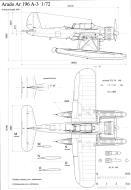 Asisbiz Aircraft technical drawing of Arado Ar 196A3 in 1.72 scale by Michal Bradac 0B