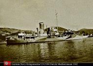Asisbiz Kriegsmarine German Naval Ship UJ2104 Darvik Mediterranean after being raised 1942