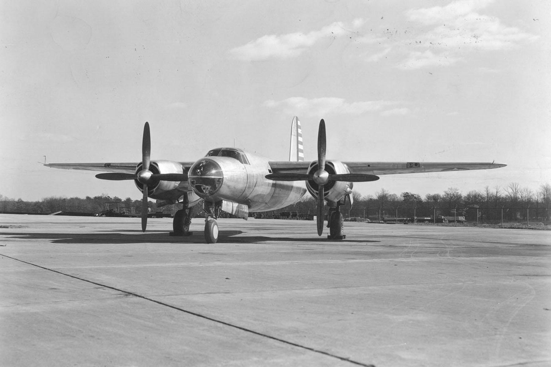 USAAF 40 1361 B 26 Marauder retained on bailment by factory for modifications 28 Nov 1940 01
