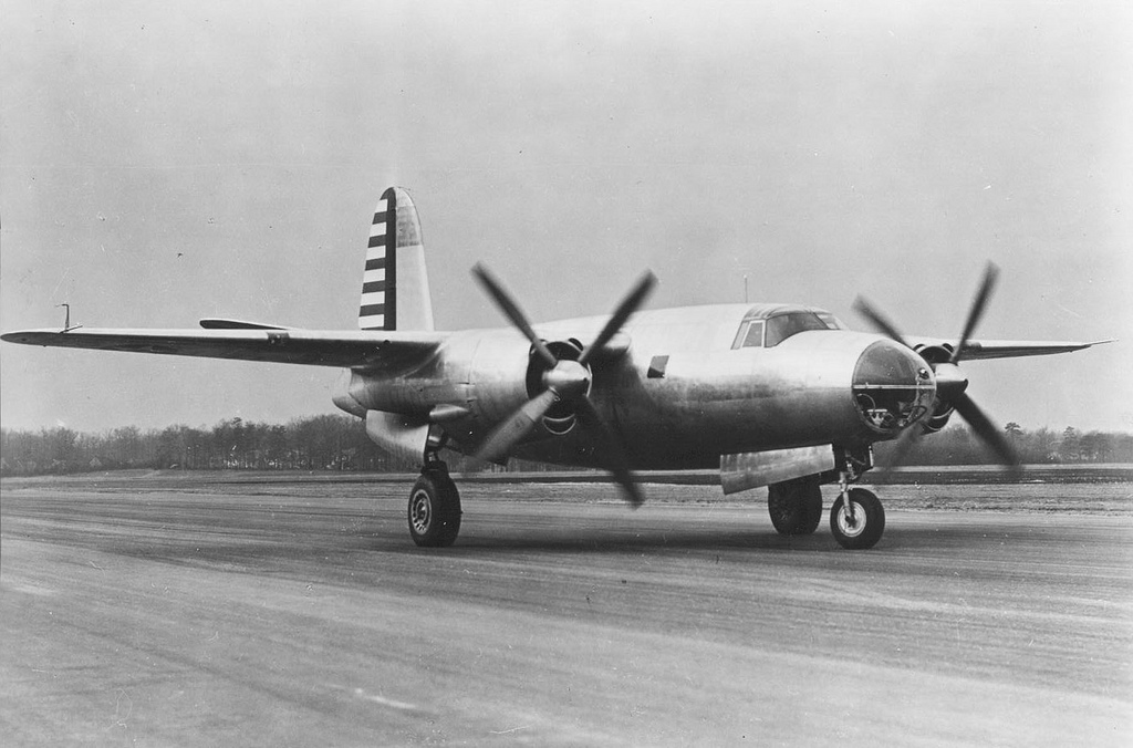 USAAF 40 1361 B 26 Marauder retained on bailment by factory for modifications 28 Nov 1940 03