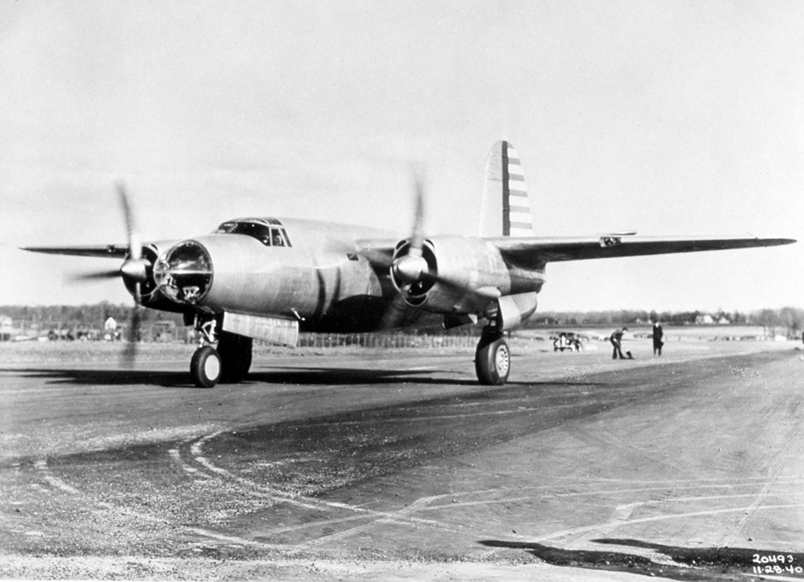 USAAF 40 1361 B 26 Marauder retained on bailment by factory for modifications 28 Nov 1940 04