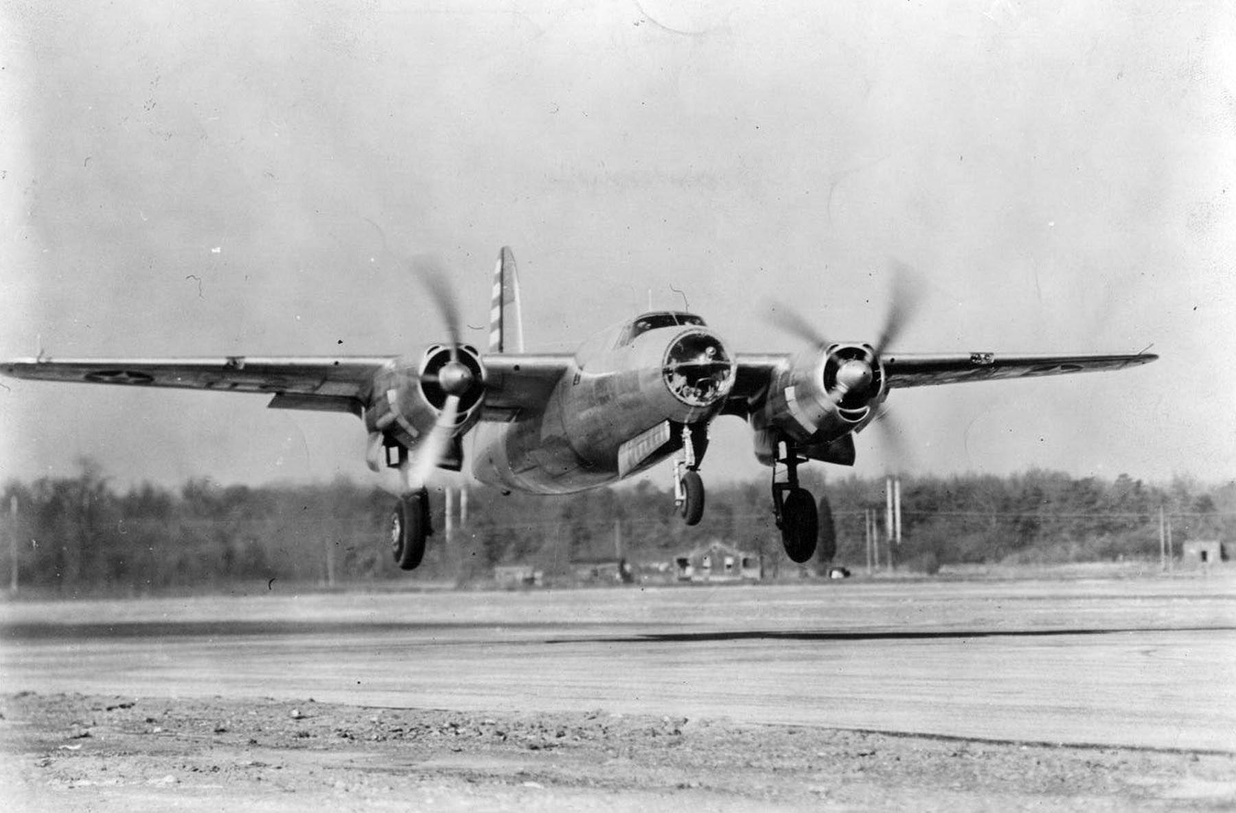 USAAF 40 1361 B 26 Marauder retained on bailment by factory for modifications 28 Nov 1940 05