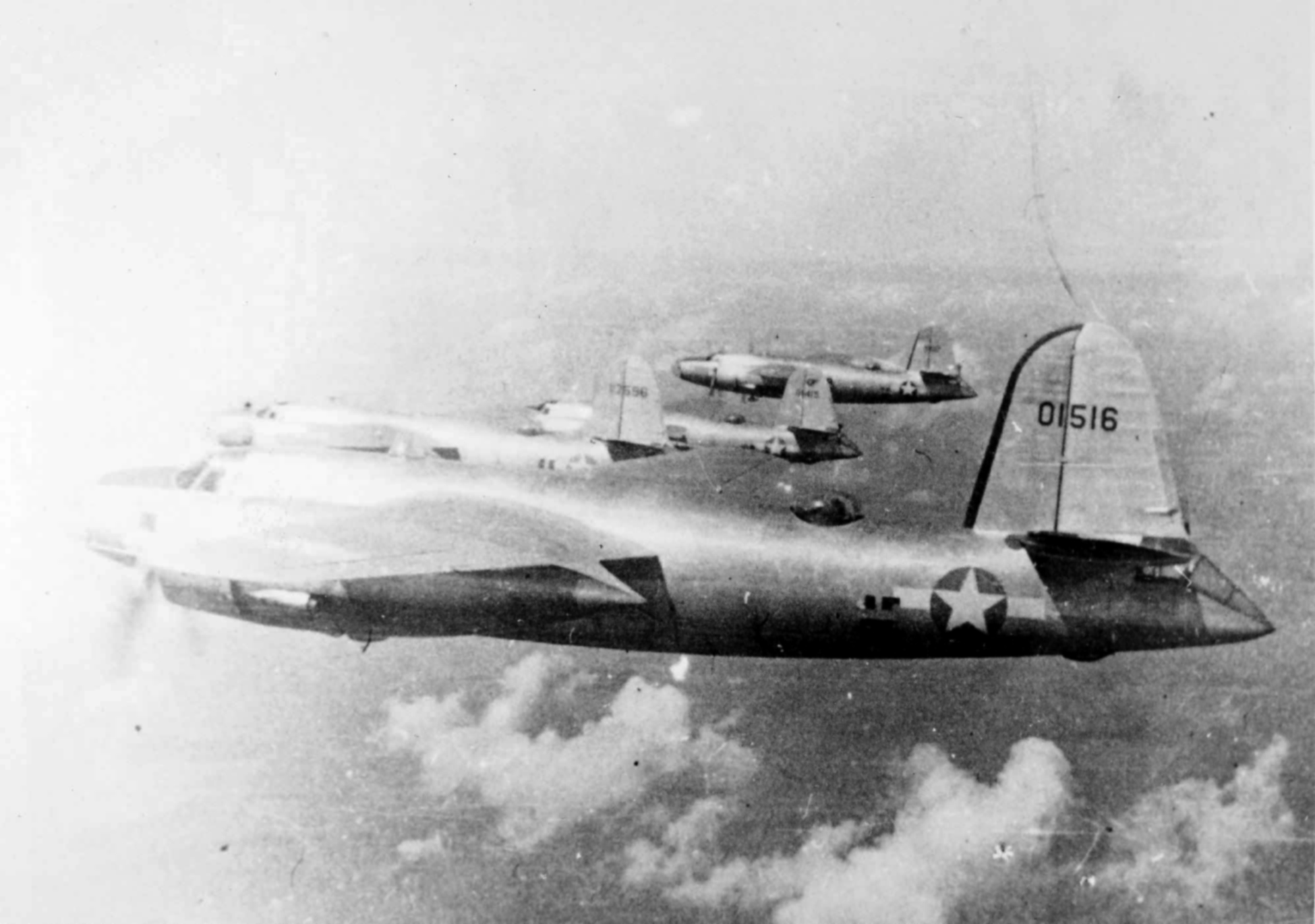 USAAF 40 1516 B 26 Marauder 22BG2BS Wild Willie in formation 01