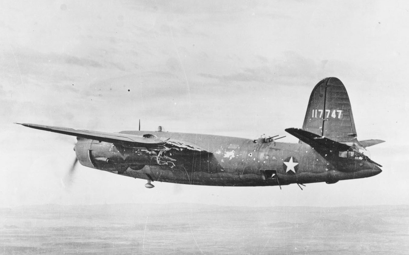 USAAF 41 17747 B 26B Marauder 17BG37BS Earthquake McGoon flak damaged North Africa 23 Mar 1943 03