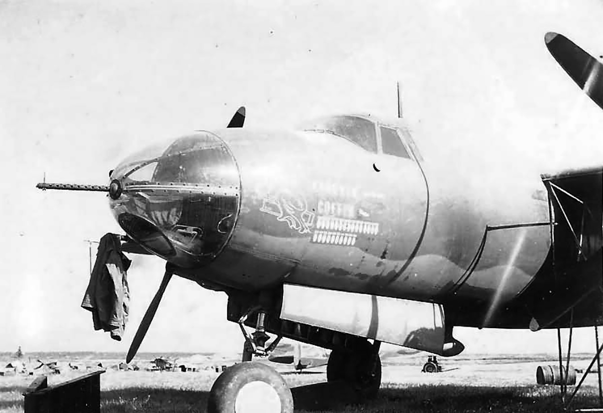 USAAF 41 17858 B 26B Marauder 17BG34BS Coughin Coffin nose art 01