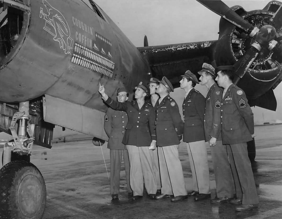 USAAF 41 17858 B 26B Marauder 17BG34BS Coughin Coffin with crew and top brass 01