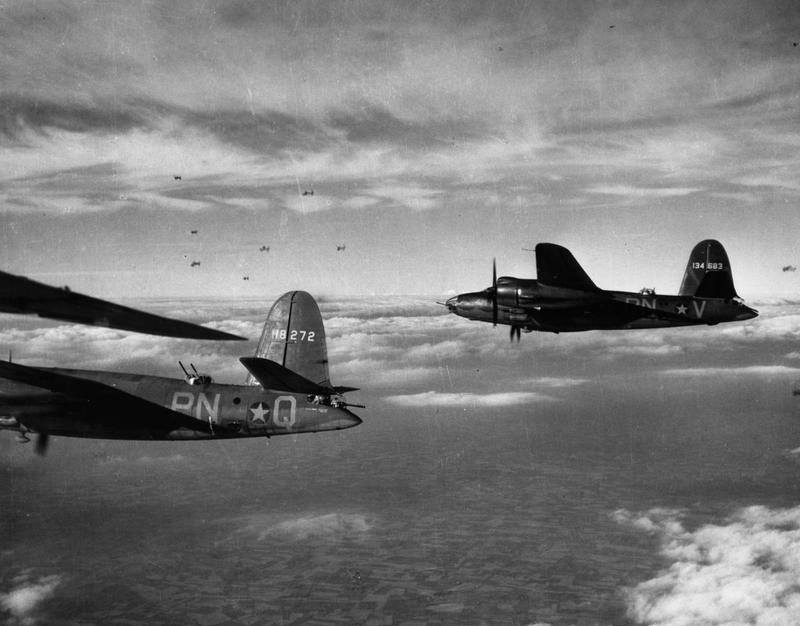 USAAF 41 18272 B 26B Marauder 322BG449BS PNQ Murder Inc enroute to St Omer airfield France 9 Aug 1943 01