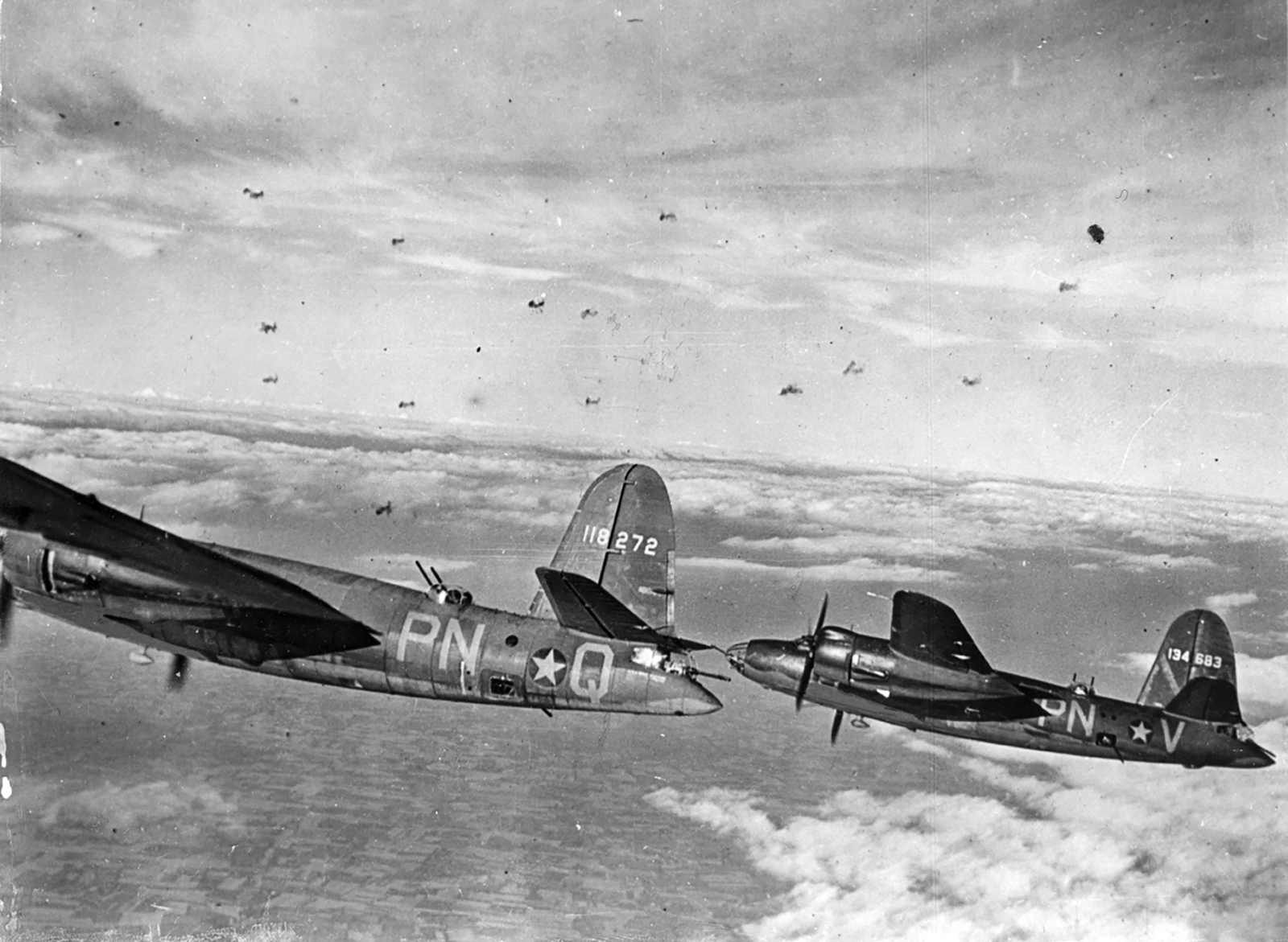 USAAF 41 18272 B 26B Marauder 322BG449BS PNQ Murder Inc enroute to St Omer airfield France 9 Aug 1943 04