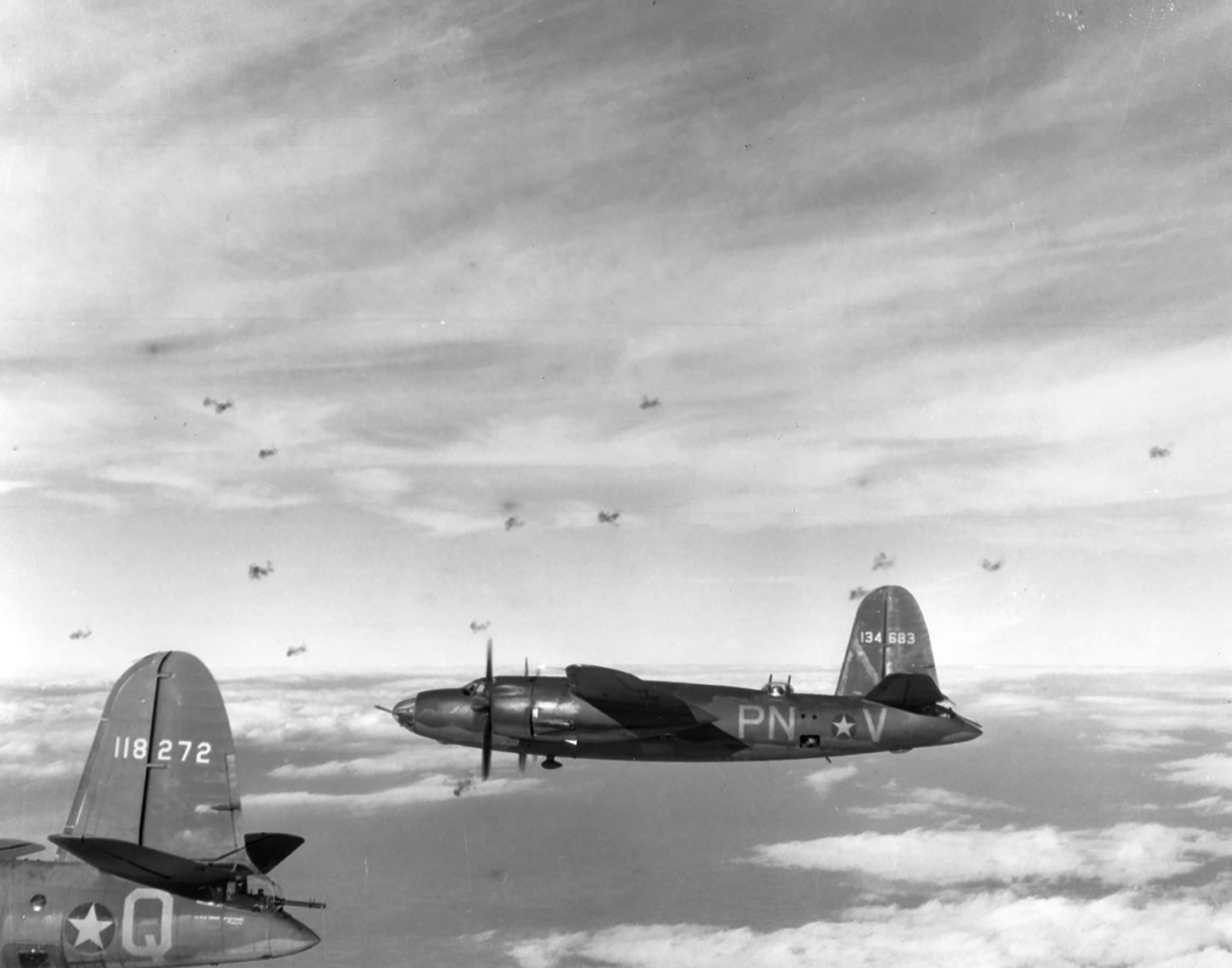 USAAF 41 18272 B 26B Marauder 322BG449BS PNQ Murder Inc enroute to St Omer airfield France 9 Aug 1943 06