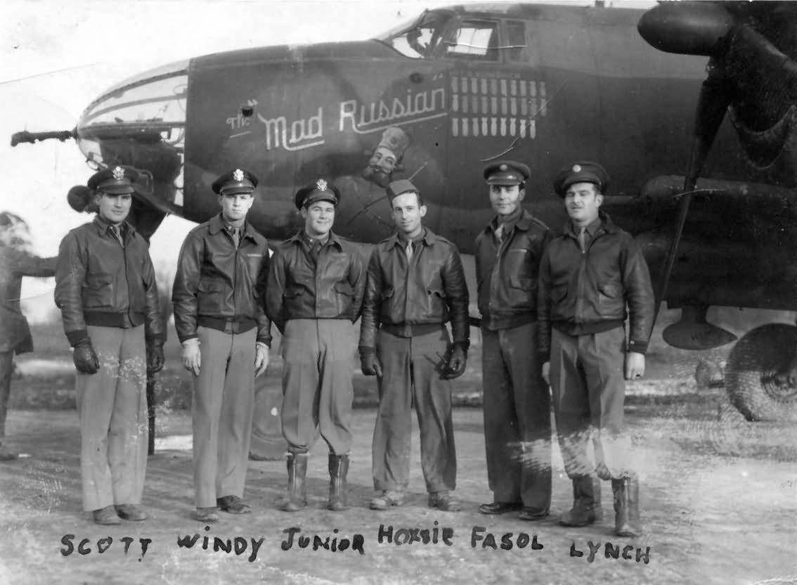 USAAF 41 31600 B 26B Marauder 386BG553BS ANU The Mad Russian crew photo Jan 1944 01