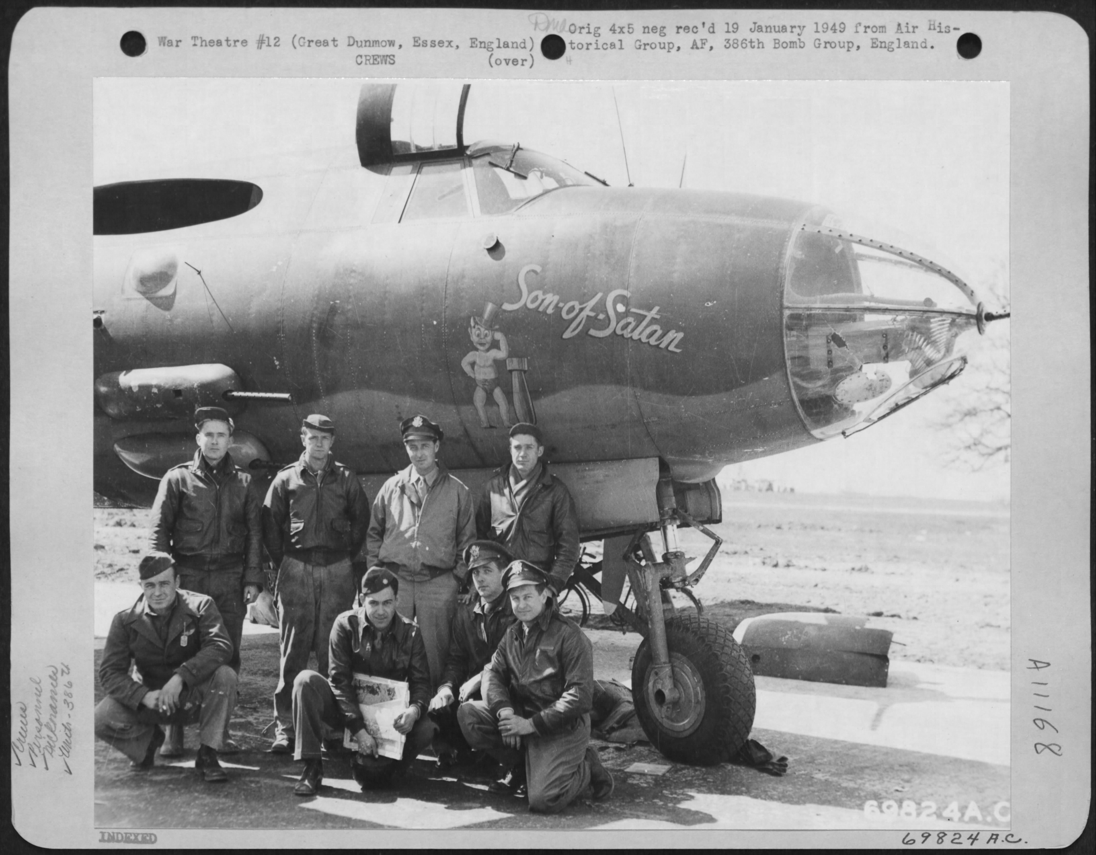 USAAF 41 31613 B 26B Marauder 386BG555BS YAY Son of Satan 02