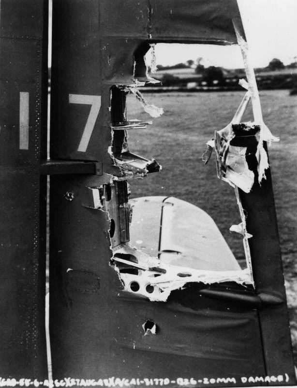 USAAF 41 31746 B 26B Marauder 322BG after being hit by German 20mm cannon fire 27 Aug 1943 02
