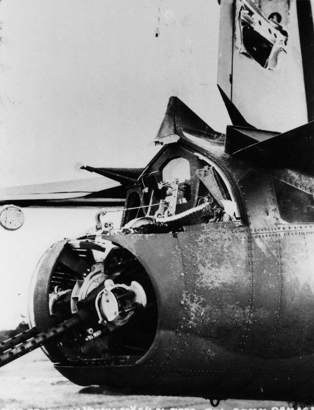 USAAF 41 31746 B 26B Marauder 322BG after being hit by German 20mm cannon fire 27 Aug 1943 03