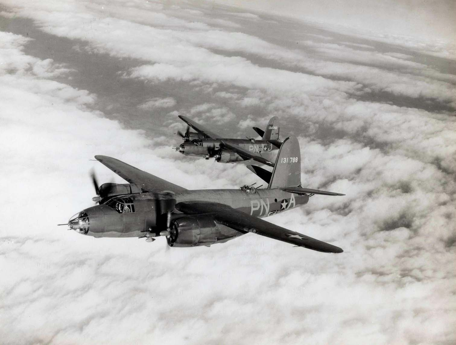 USAAF 41 31763 B 26B Marauder 322BG449BS PNA and PNJ over Europe 01