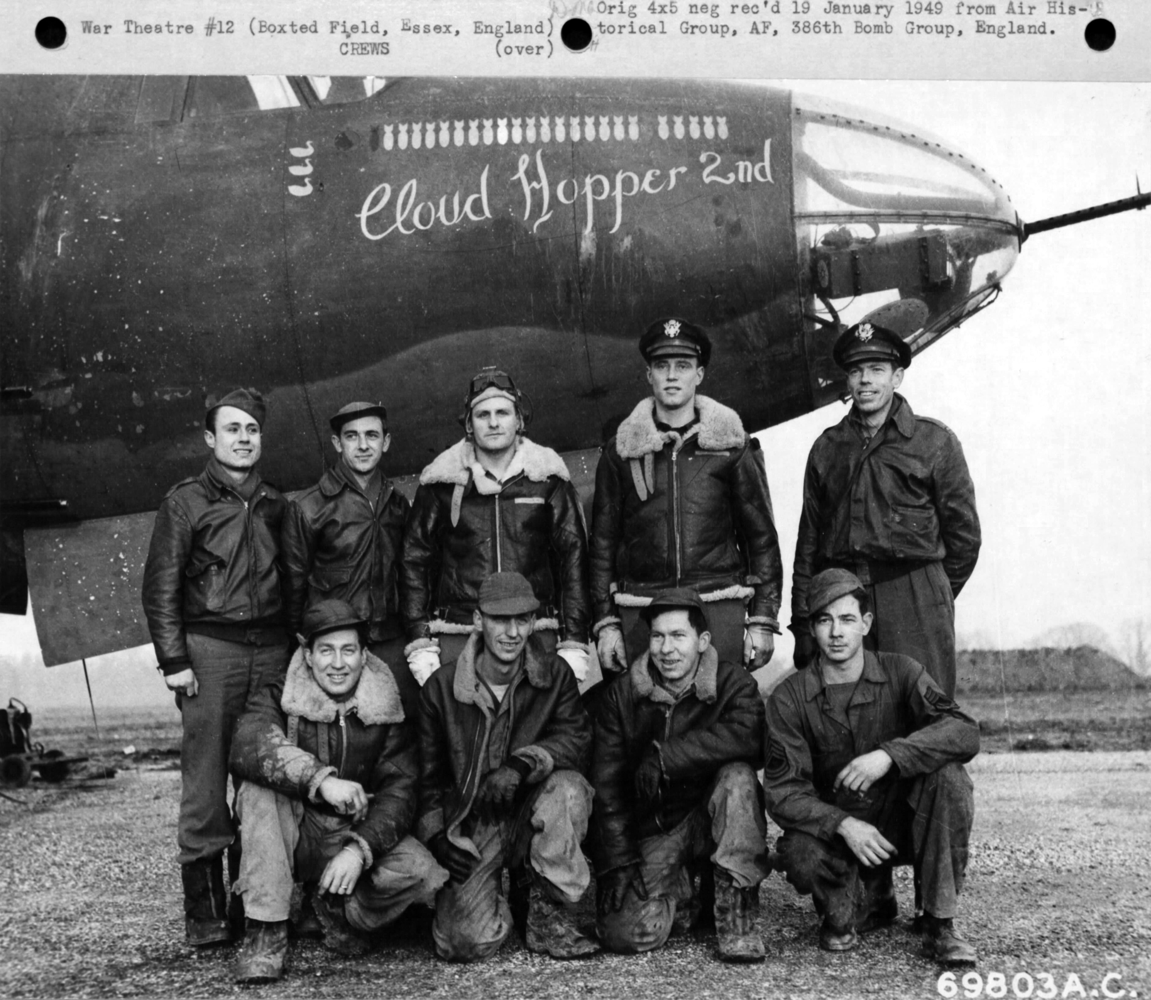 USAAF 41 31763 B 26B Marauder 386BG554BS RUO Cloud Hopper 2nd 01