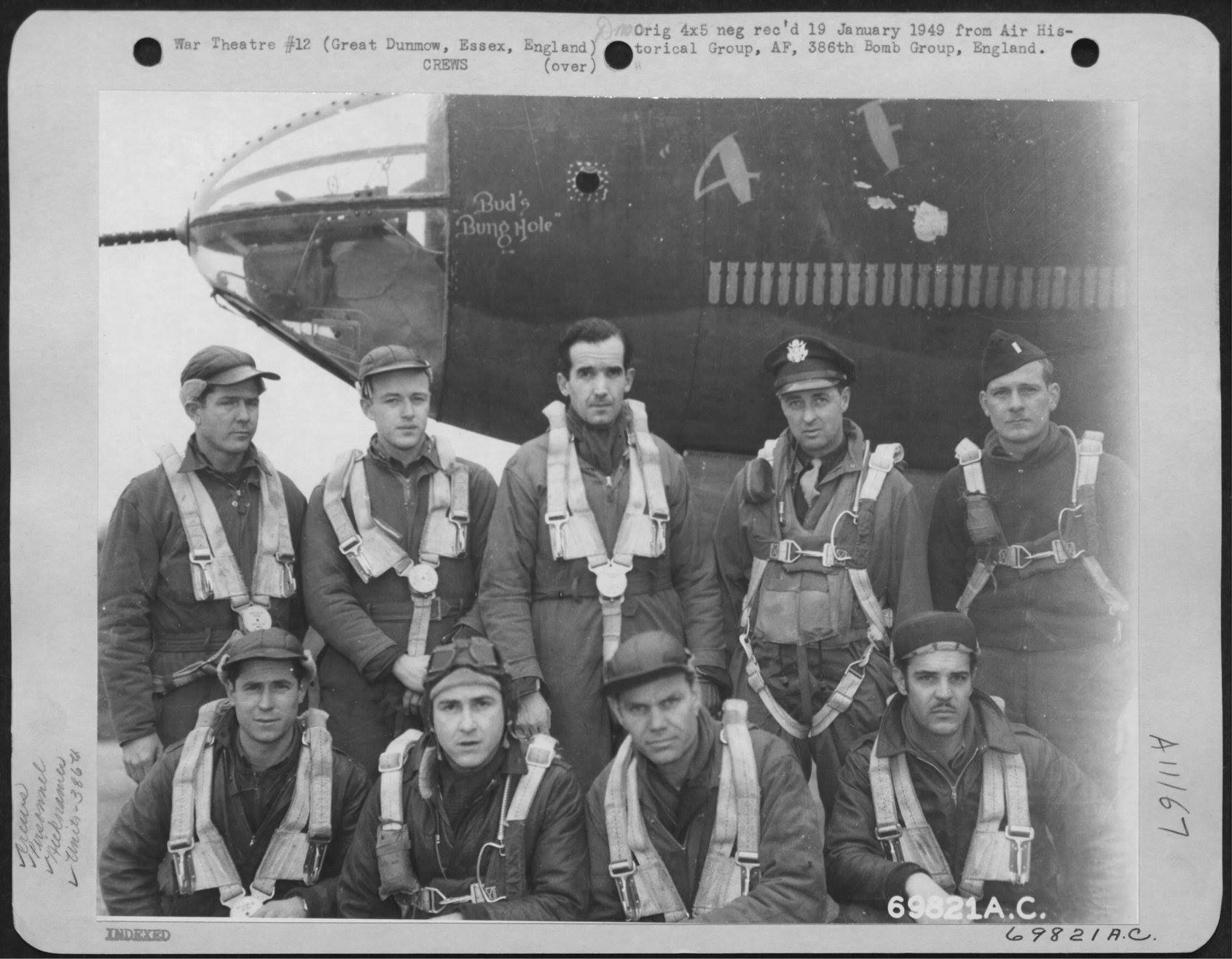 USAAF 41 31771 B 26B Marauder 386BG554BS 4F with Col Kelly ER Murrow war correspondent and crew England 25 Feb 1944 01