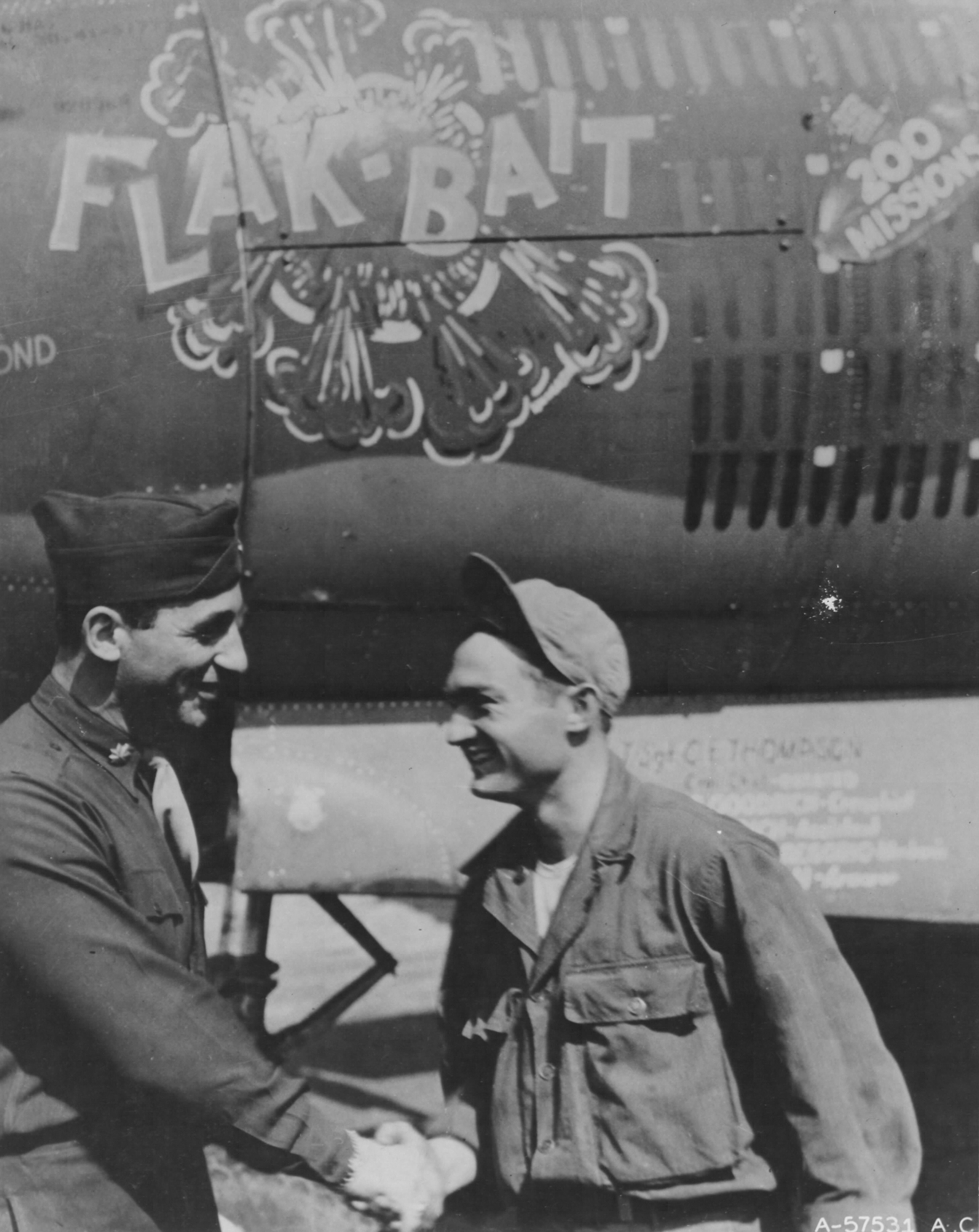 USAAF 41 31773 B 26B Marauder 322BG449BS PNO SSgt Clair G Goodrich congratulations from CO Maj John C Ruse 01