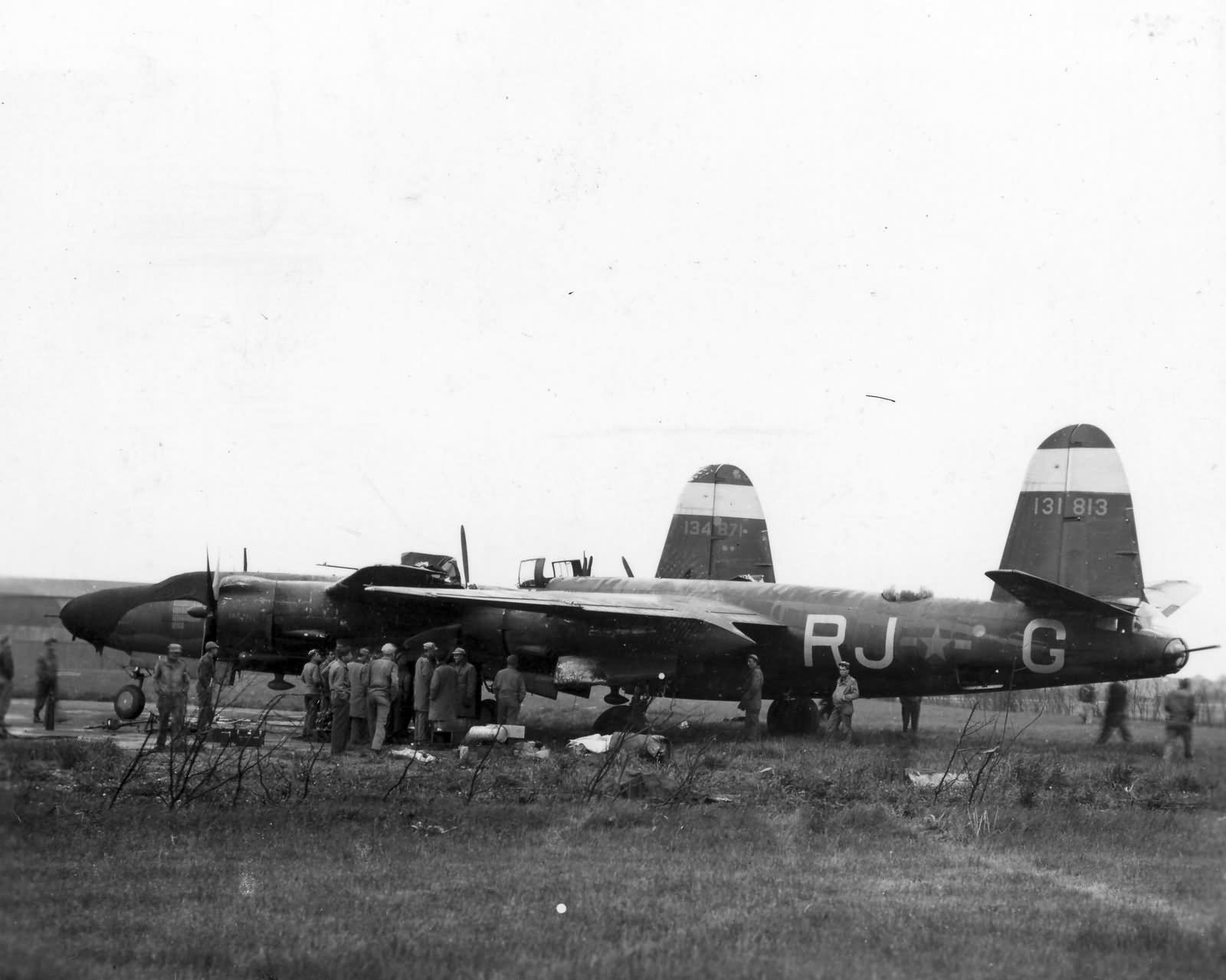 USAAF 41 31813 B 26B Marauder 323BG454BS RJG Half and Half accident France 01