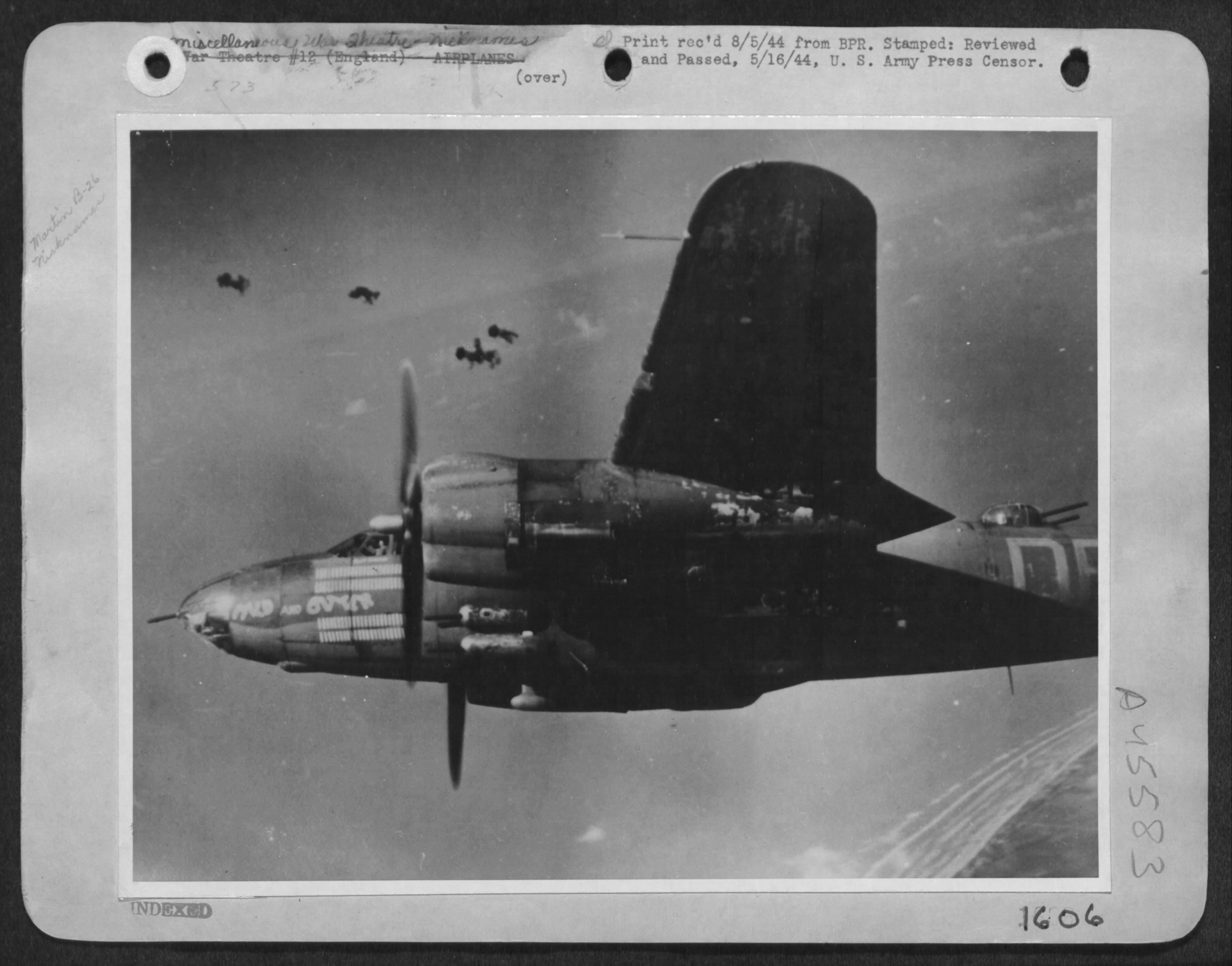 USAAF 41 31819 B 26B Marauder 322BG452BS DRX Mild and Bitter over enemy territory France 8 May 1944 01