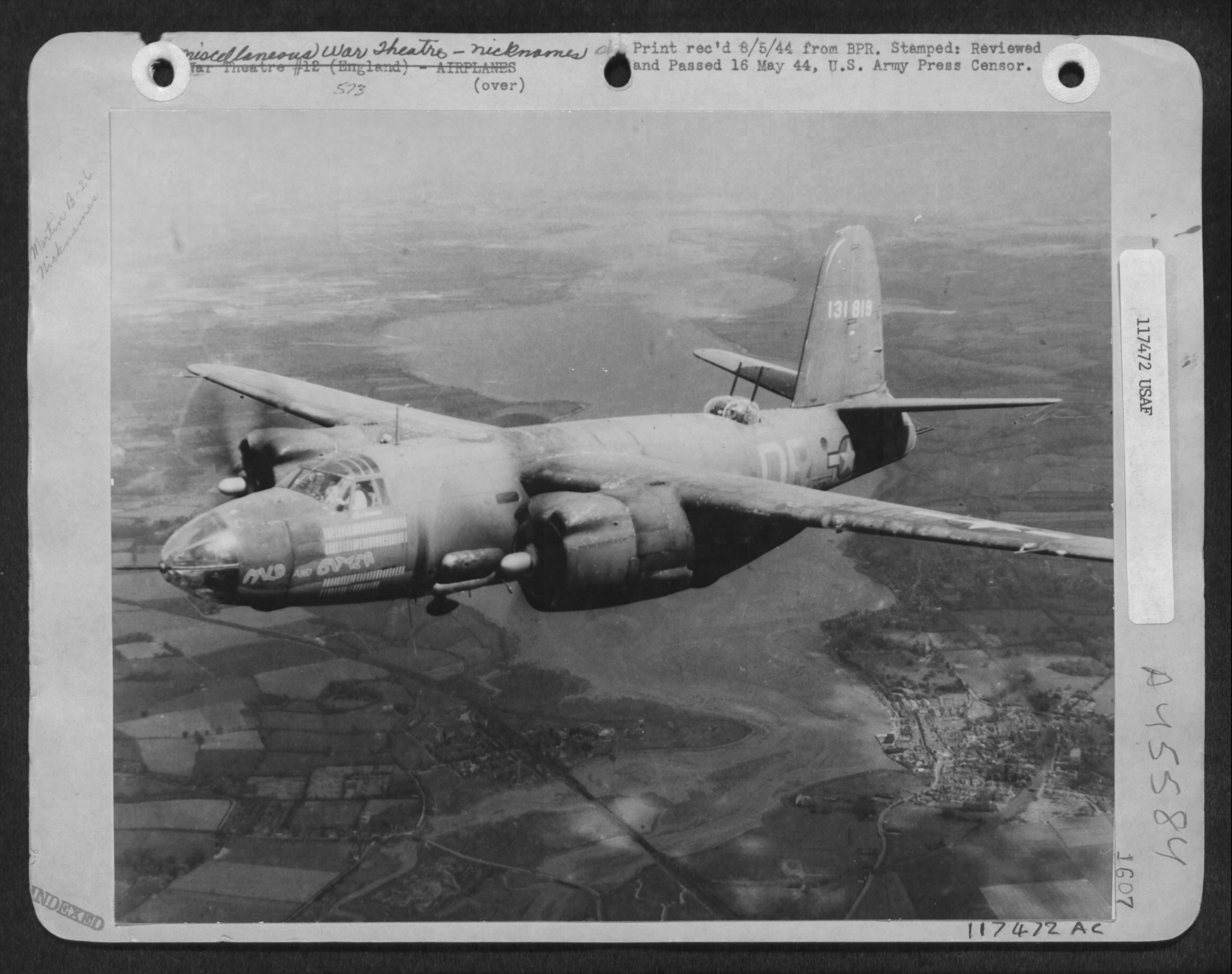 USAAF 41 31819 B 26B Marauder 322BG452BS DRX Mild and Bitter over enemy territory France 8 May 1944 02