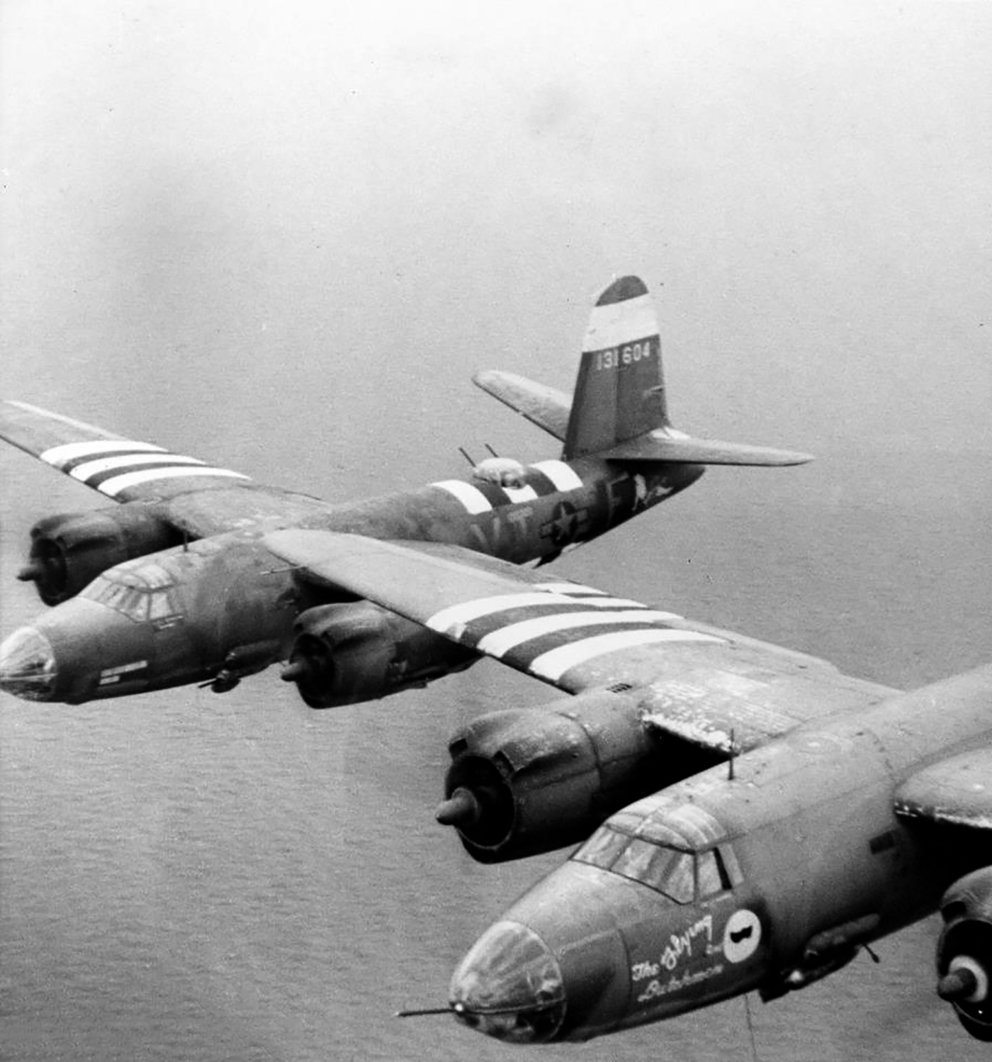USAAF 41 31826 B 26B Marauder 323BG453BS VTM Flying Dutchman II over the channel 01