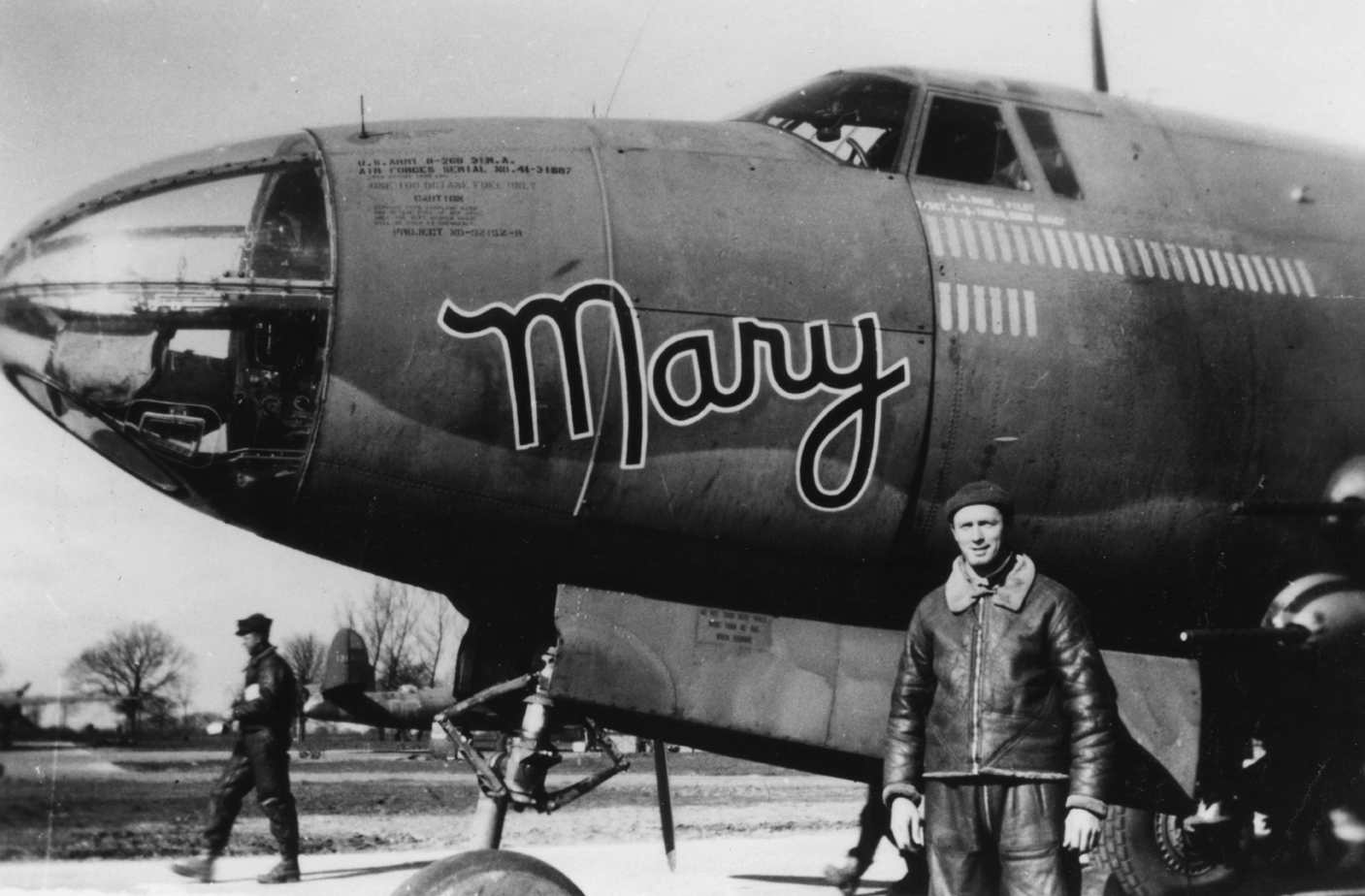 USAAF 41 31887 B 26B Marauder 322BG452BS DRG Mary nose art 1944 01