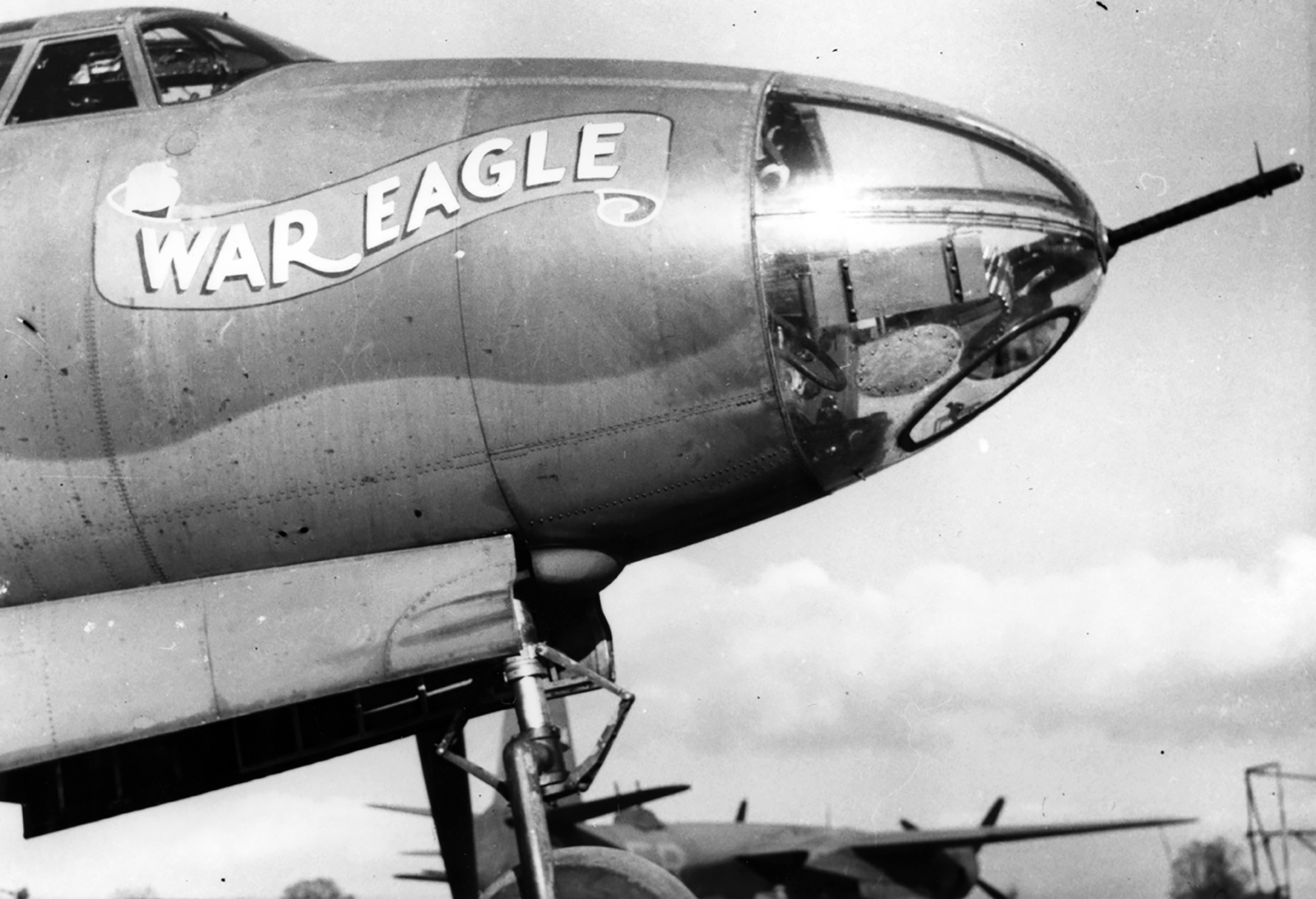 USAAF 41 31888 B 26B Marauder 322BG450BS ERH War Eagle nose art 01