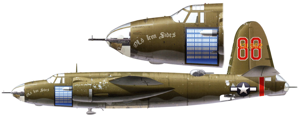USAAF 41 31962 B 26B Marauder 17BG432BS 86 Old Iron Sides with 175 missions Corsica Oct 1944 0A