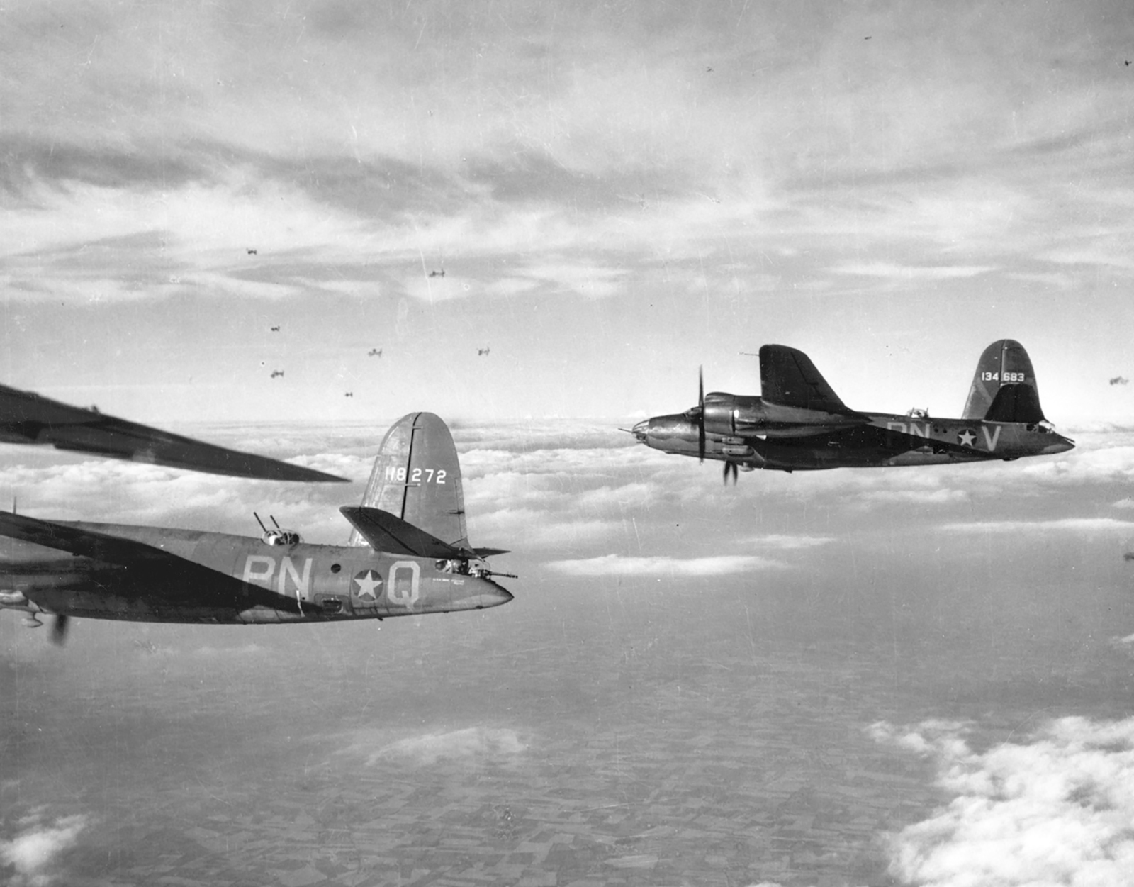 USAAF 41 34683 B 26C Marauder 322BG449BS PNV enroute to St Omer airfield France 9 Aug 1943 06