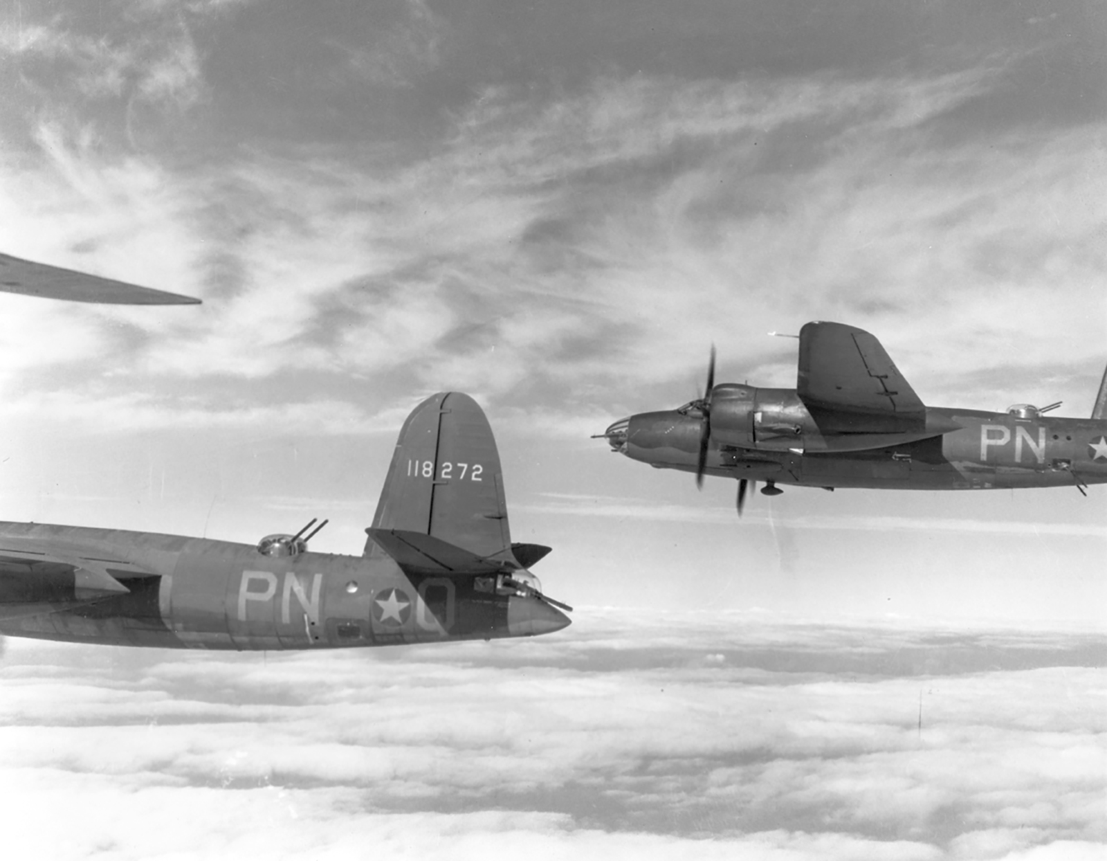 USAAF 41 34683 B 26C Marauder 322BG449BS PNV enroute to St Omer airfield France 9 Aug 1943 07