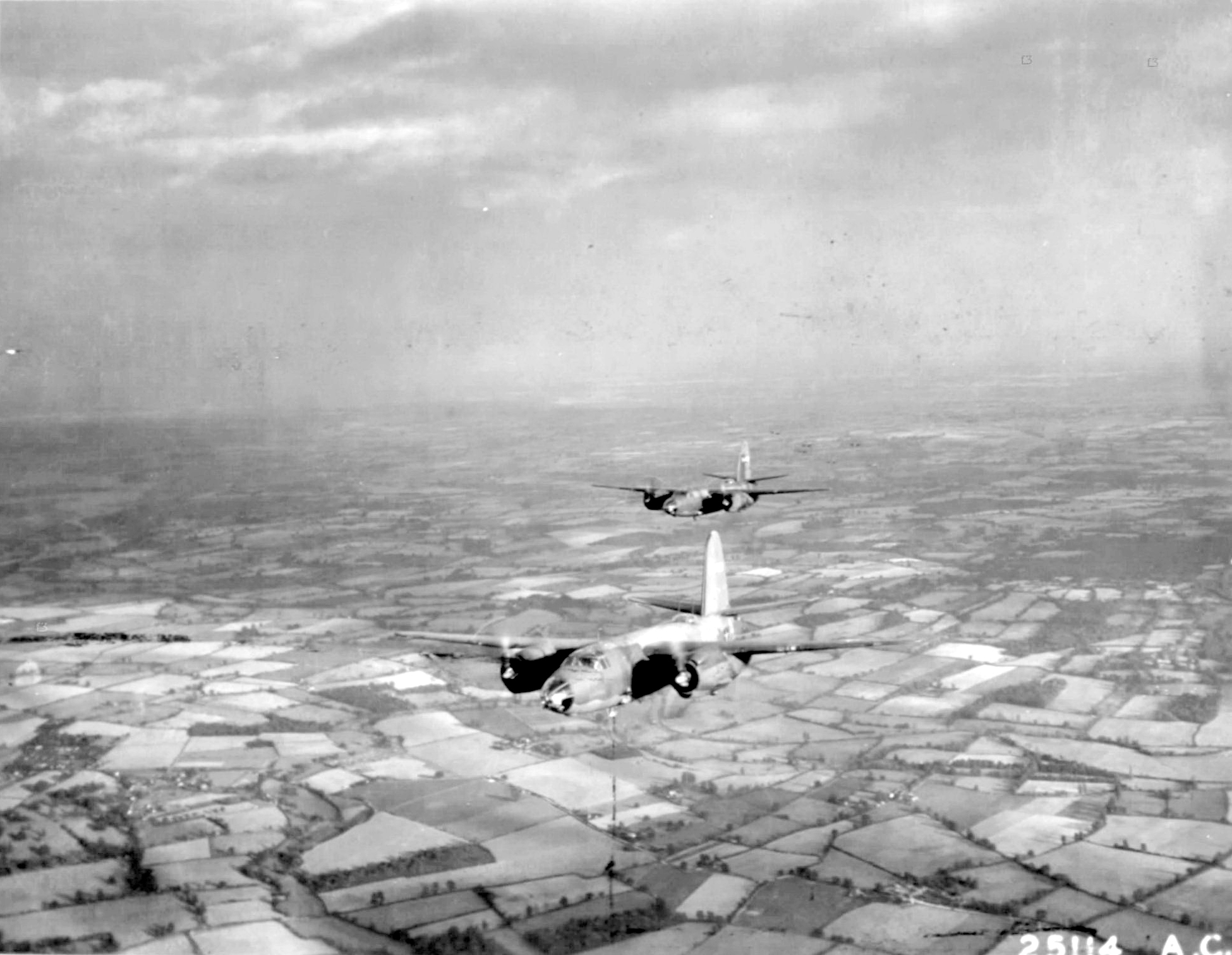 USAAF 41 34763 B 26C Marauder 322BG449BS PNJ with PNA over Europe 1943 05