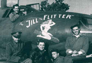 USAAF 41 34857 B 26C Marauder 323BG454BS RJO The Jill Flitter with crew June 1944 01