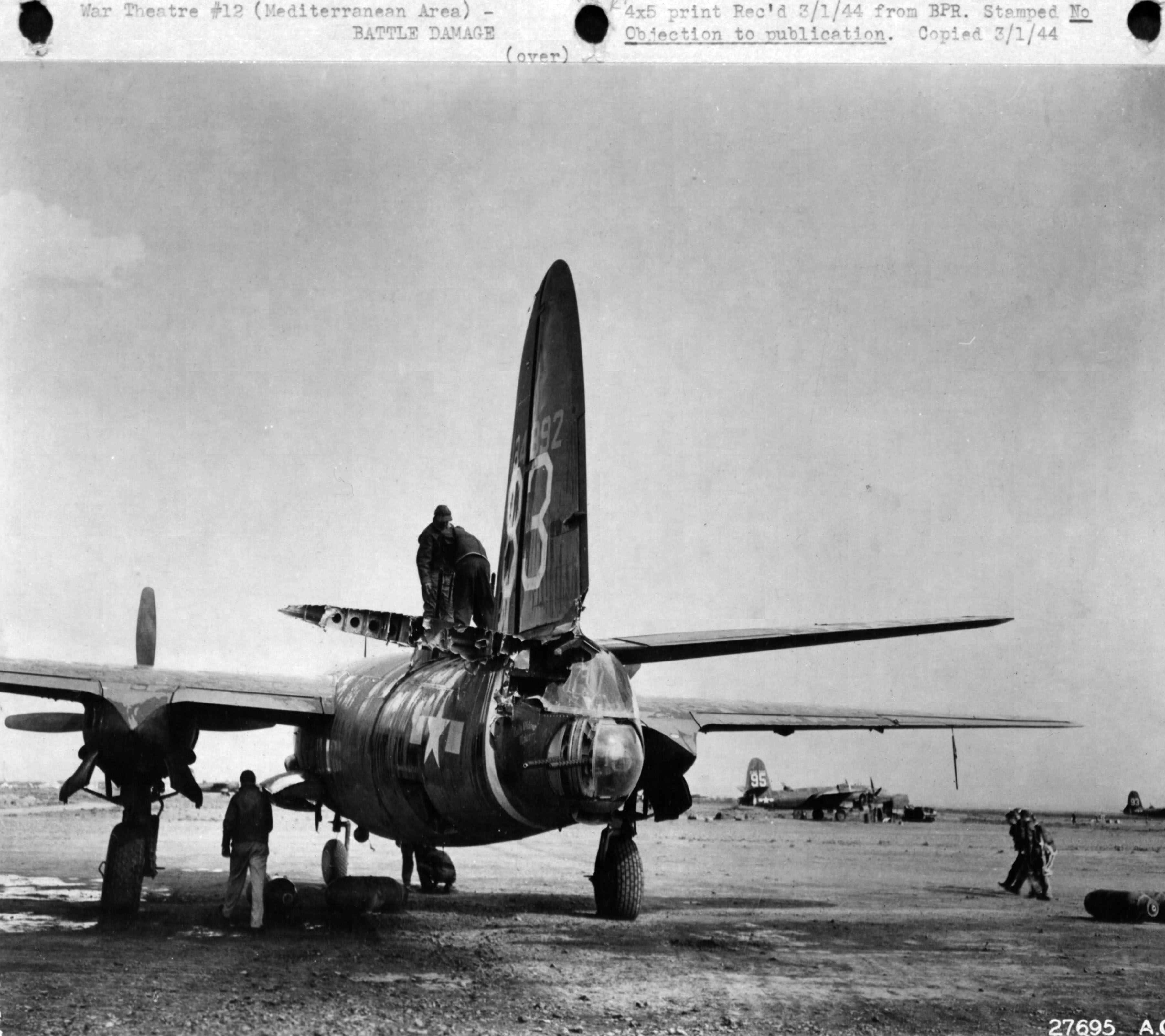 USAAF 41 34892 B 26C Marauder 319BG440BS 83 Modern Design after mid air collision with another B 26 01