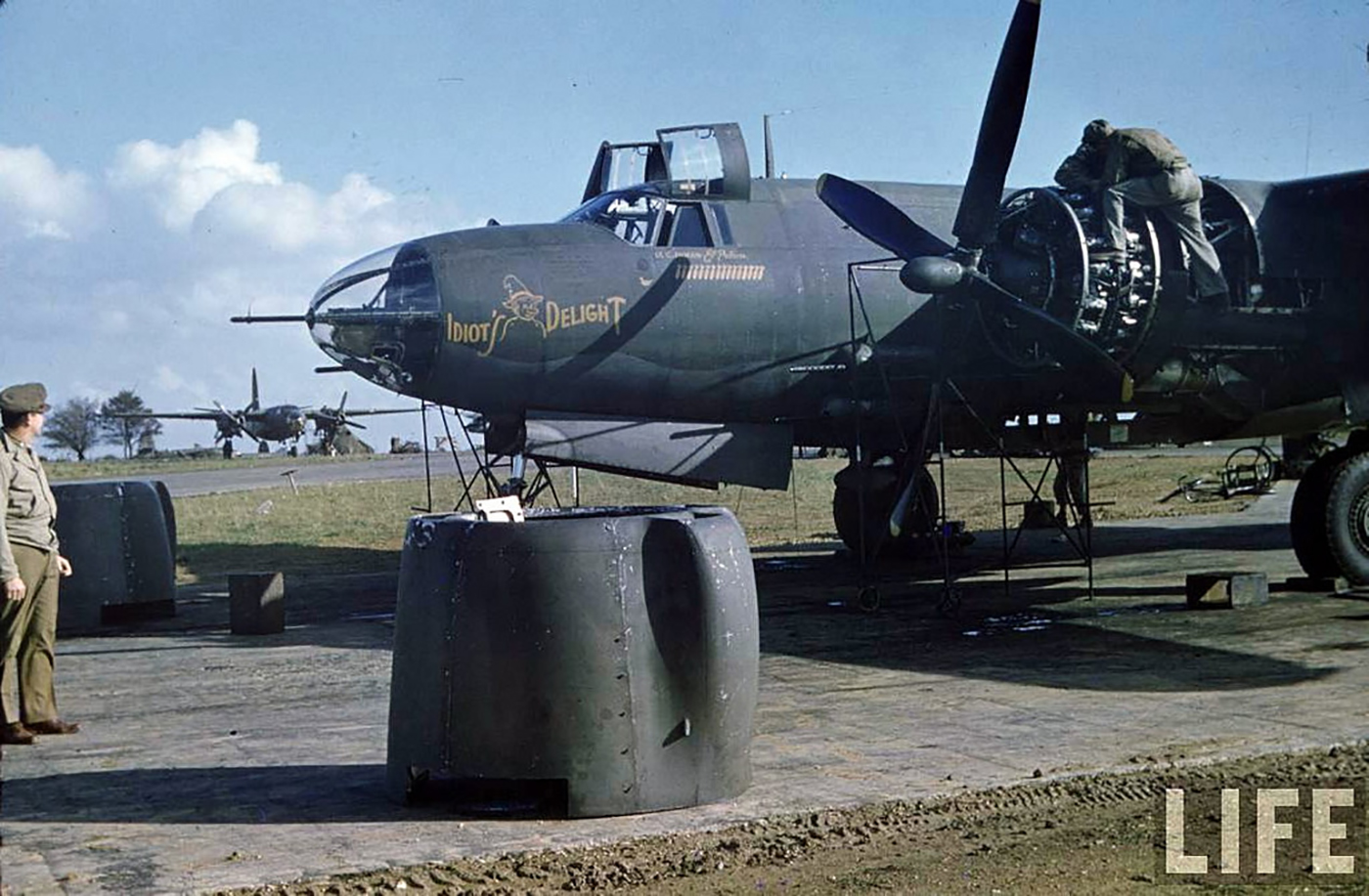 USAAF 41 34947 B 26C Marauder 322BG451BS SSJ Idiots Delight later transfered 386BG554BS RUK 01