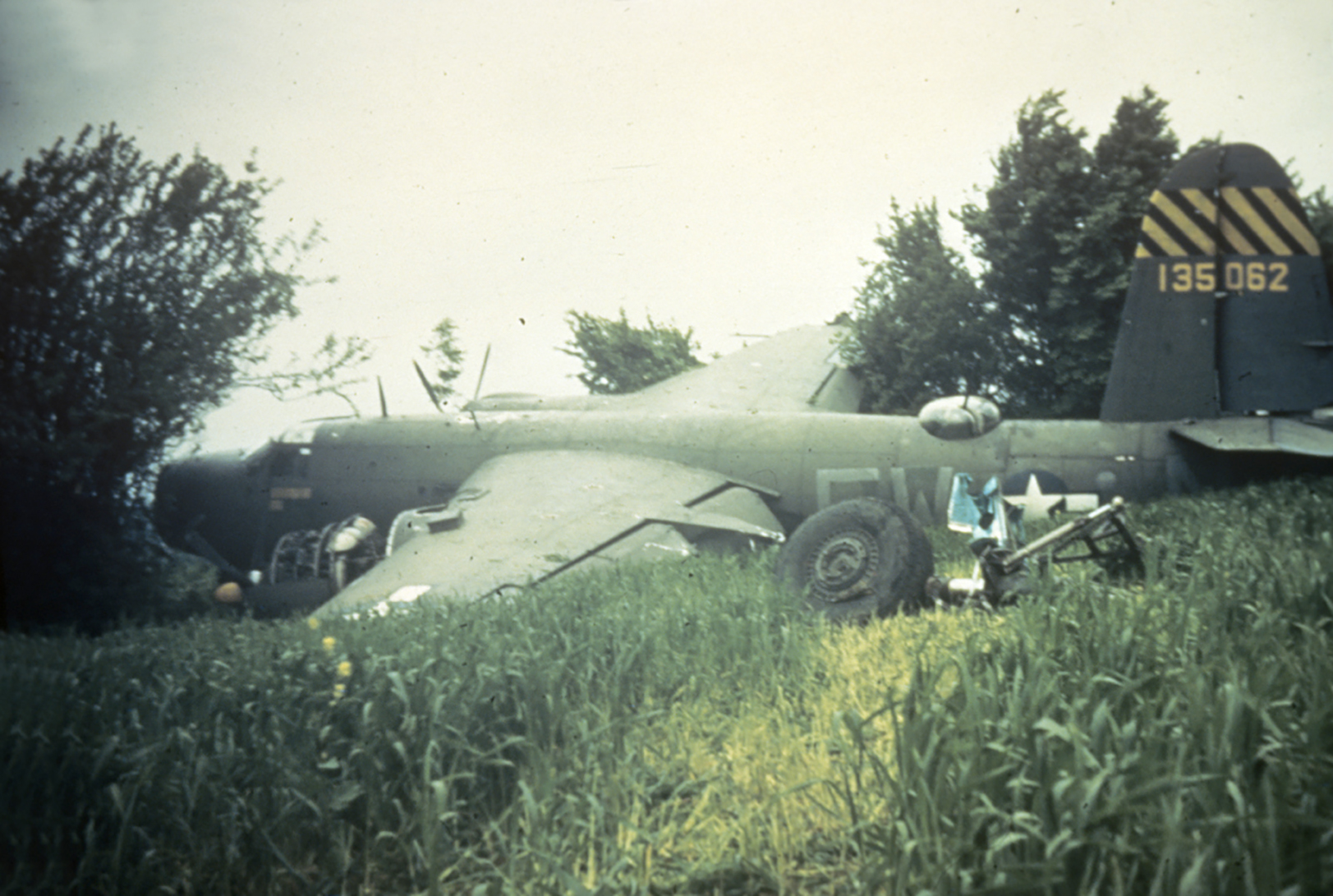 USAAF 41 35062 B 26C Marauder 387BG556BS FWN Lucky Lady w off after take off crash England 25 May 1944 01