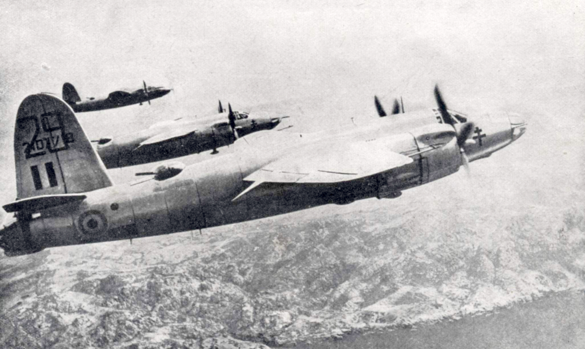 USAAF 42 107718 B 26C Marauder French Airforce 29 in formation 1944 01